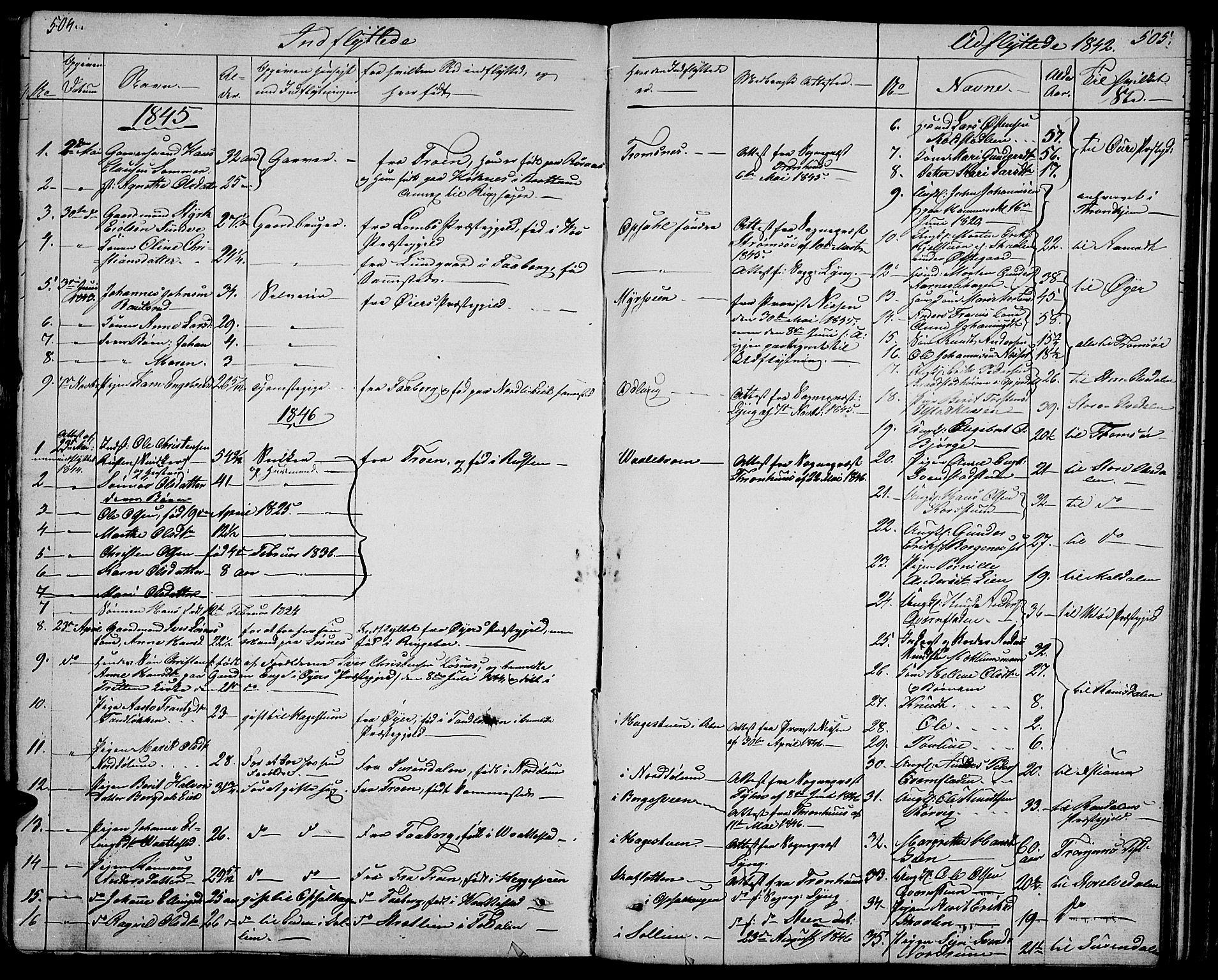SAH, Ringebu prestekontor, Klokkerbok nr. 2, 1839-1853, s. 504-505