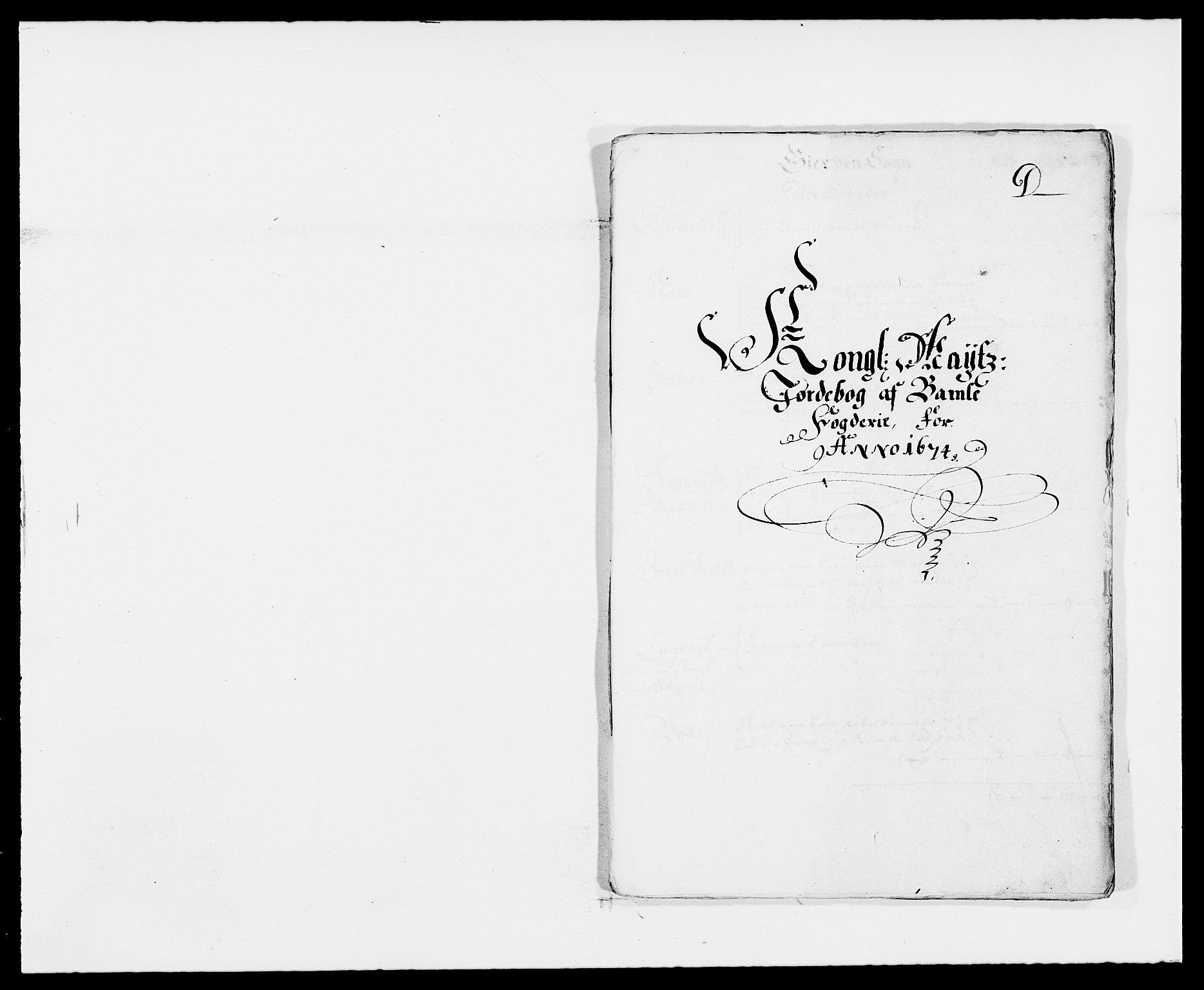 RA, Rentekammeret inntil 1814, Reviderte regnskaper, Fogderegnskap, R34/L2042: Fogderegnskap Bamble, 1673-1675, s. 235