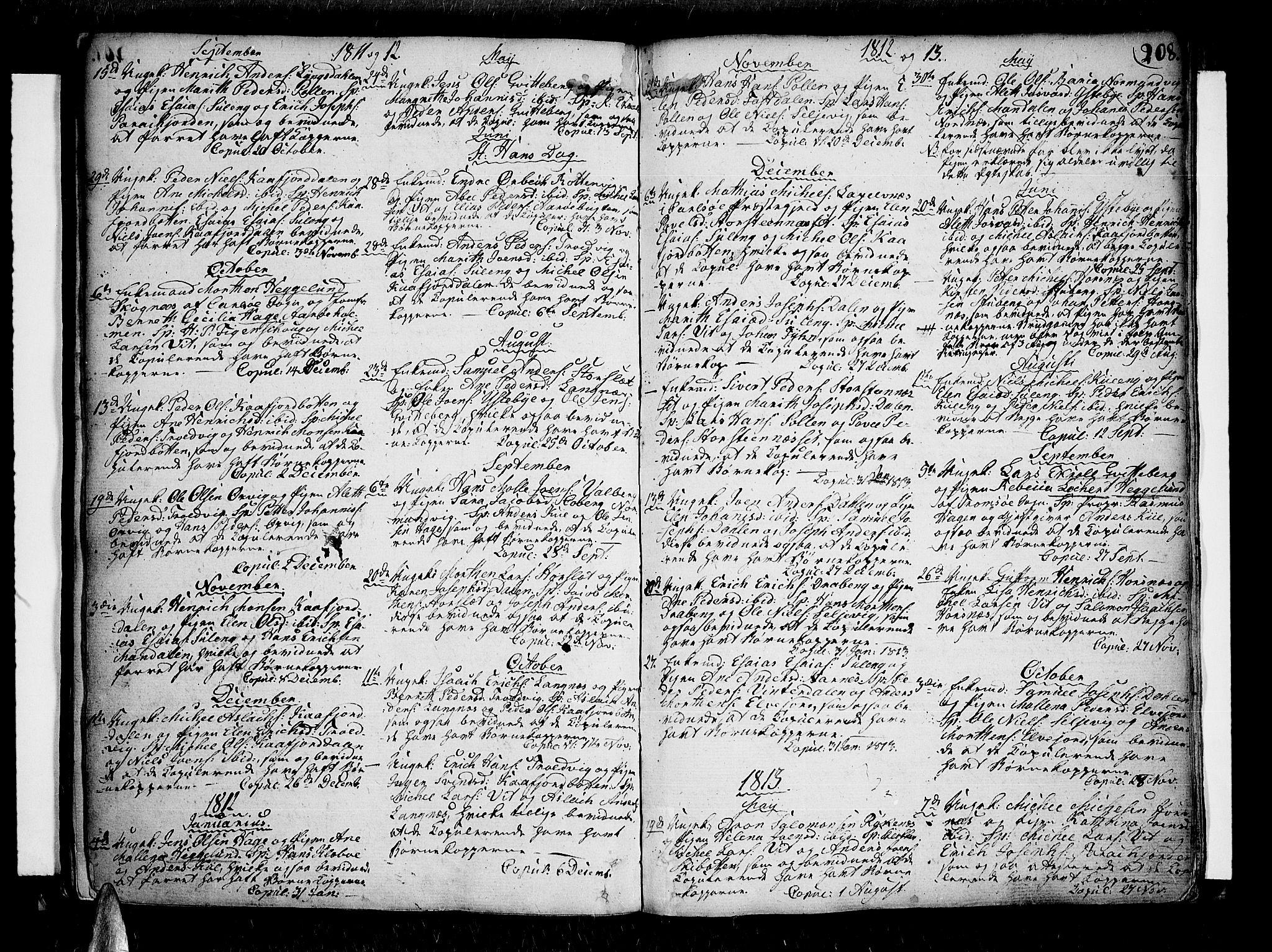 SATØ, Lyngen sokneprestembete, H/He/Hea/L0002kirke: Ministerialbok nr. 2, 1785-1840, s. 208