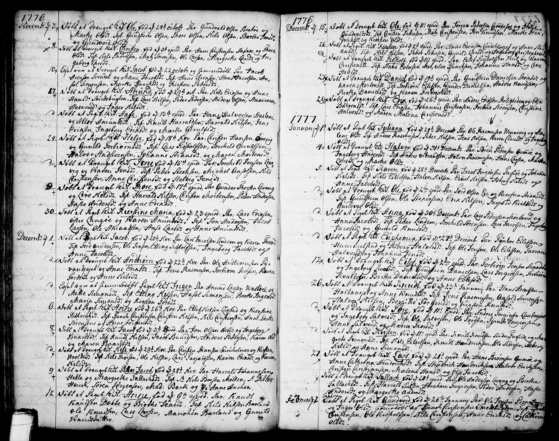 SAKO, Sannidal kirkebøker, F/Fa/L0002: Ministerialbok nr. 2, 1767-1802, s. 45