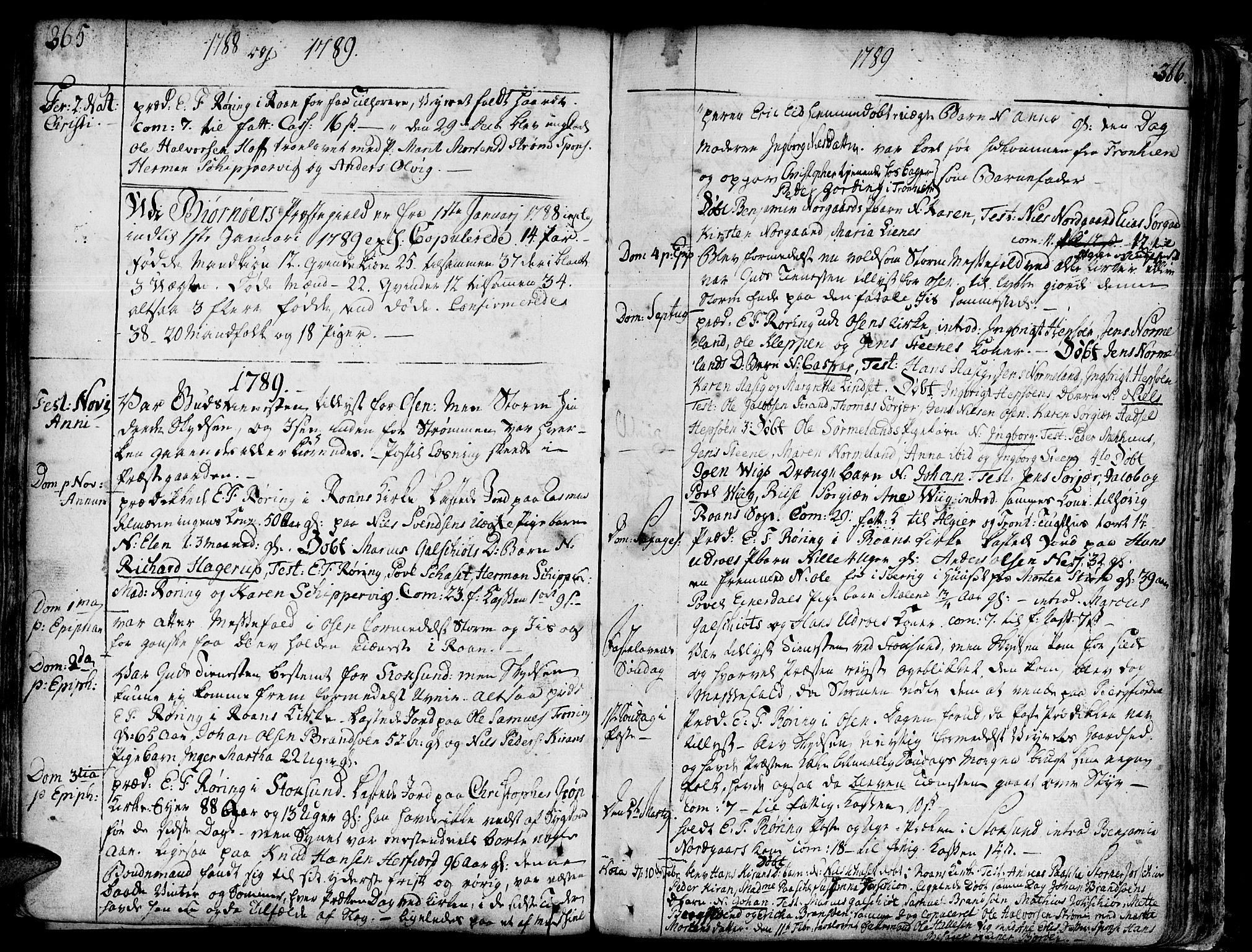 SAT, Ministerialprotokoller, klokkerbøker og fødselsregistre - Sør-Trøndelag, 657/L0700: Ministerialbok nr. 657A01, 1732-1801, s. 365-366