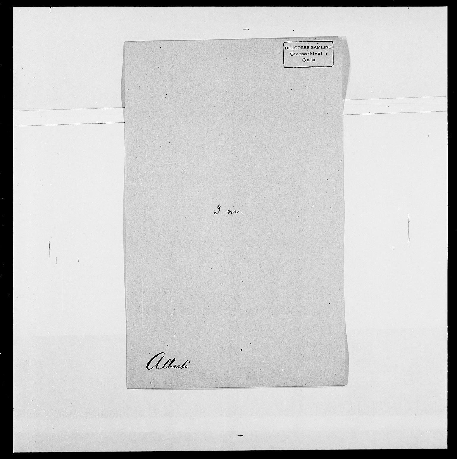 SAO, Delgobe, Charles Antoine - samling, D/Da/L0001: Aabye - Angerman, s. 367