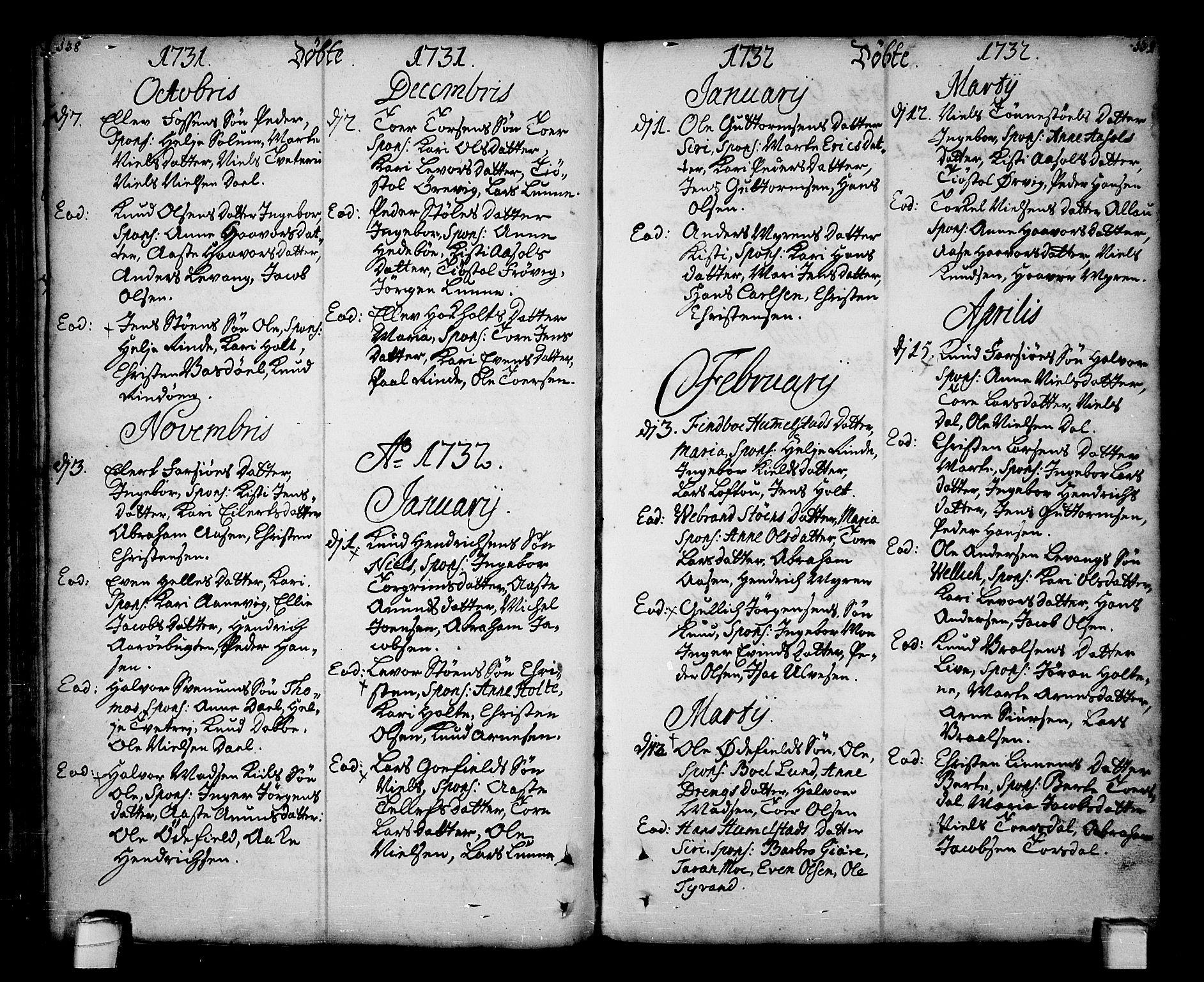 SAKO, Sannidal kirkebøker, F/Fa/L0001: Ministerialbok nr. 1, 1702-1766, s. 138-139
