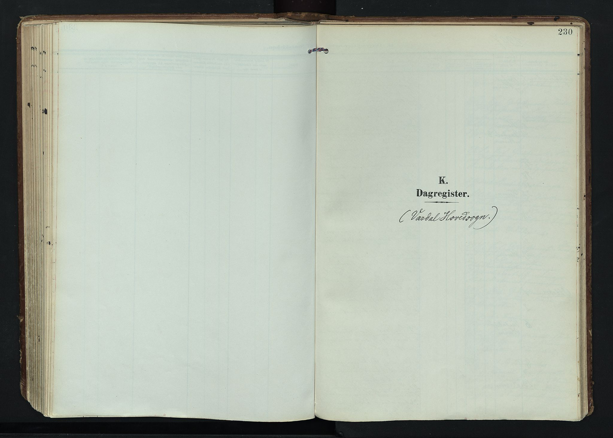 SAH, Vardal prestekontor, H/Ha/Haa/L0020: Ministerialbok nr. 20, 1907-1921, s. 230