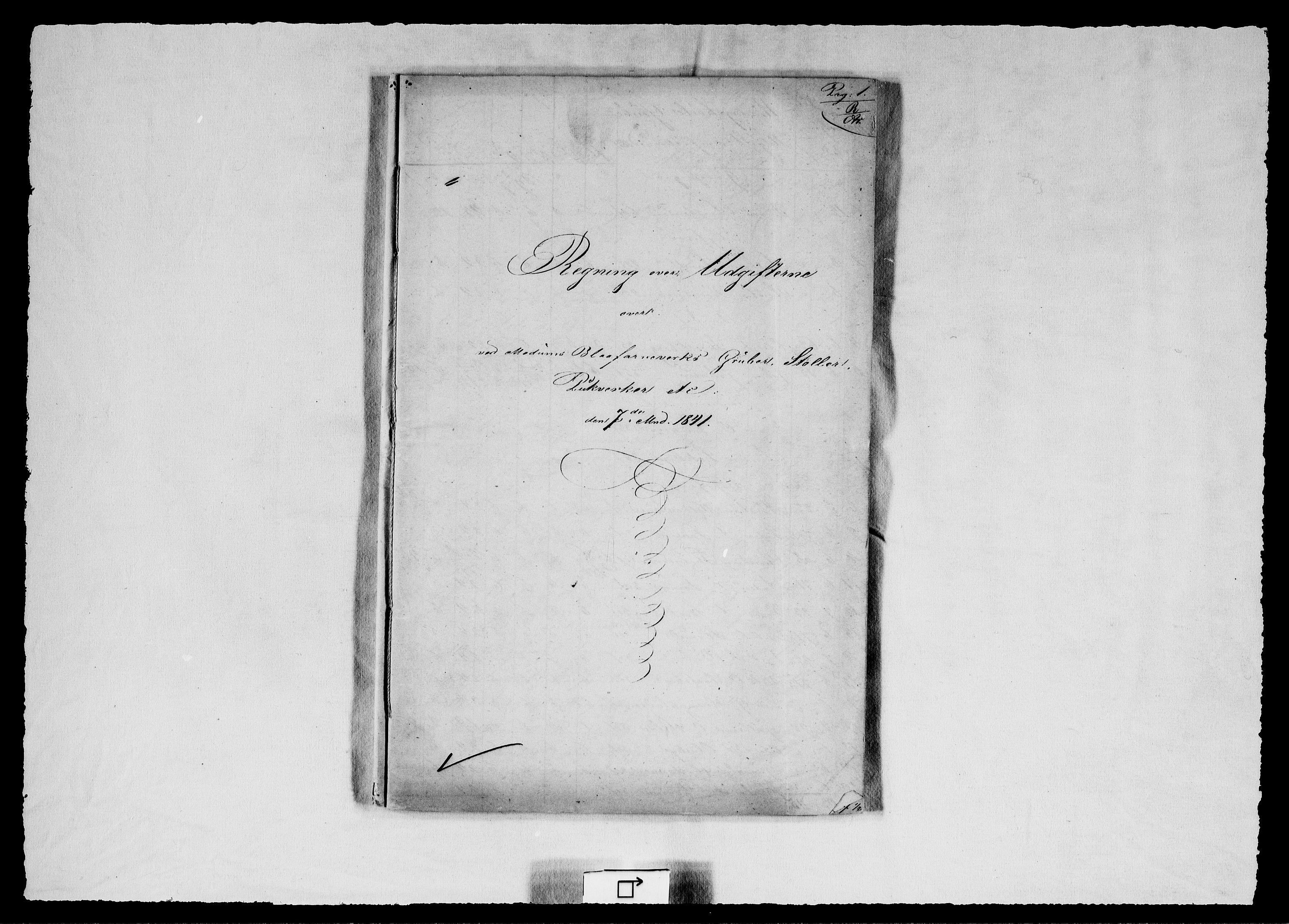 RA, Modums Blaafarveværk, G/Gd/Gdd/L0267, 1841, s. 2