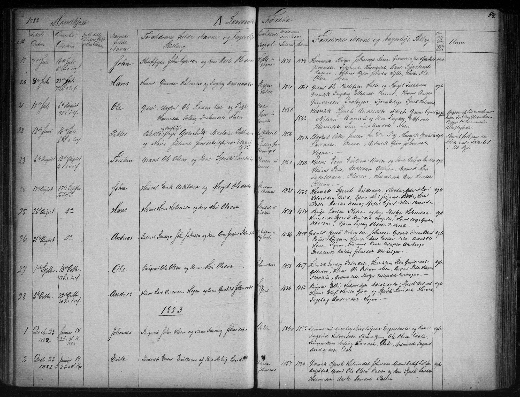 SAKO, Sauherad kirkebøker, G/Ga/L0003: Klokkerbok nr. I 3, 1866-1905, s. 54