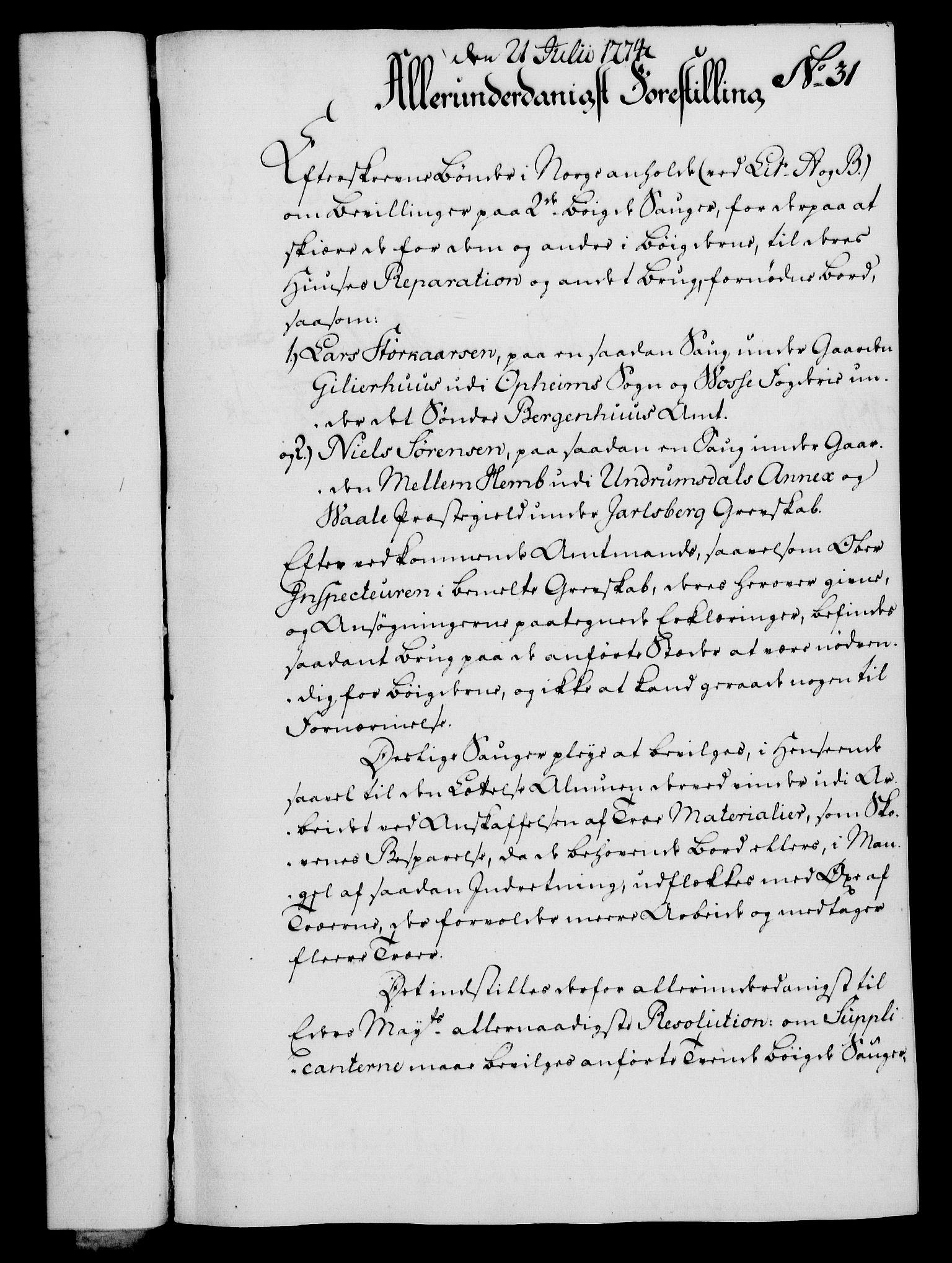 RA, Rentekammeret, Kammerkanselliet, G/Gf/Gfa/L0056: Norsk relasjons- og resolusjonsprotokoll (merket RK 52.56), 1774, s. 139