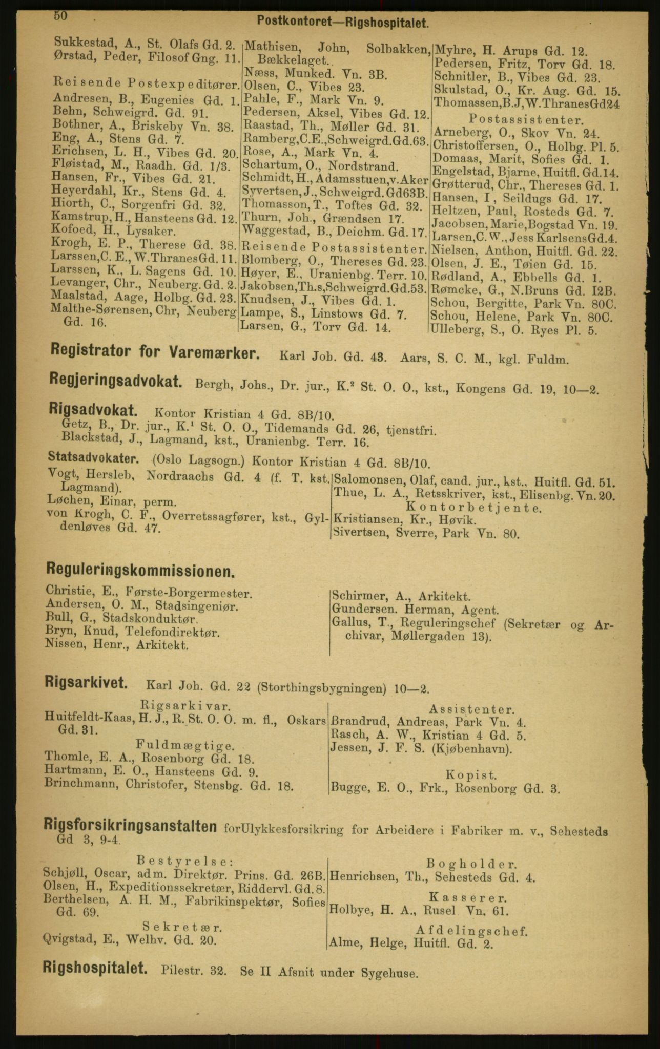 PUBL, Kristiania/Oslo adressebok, 1897, s. 50