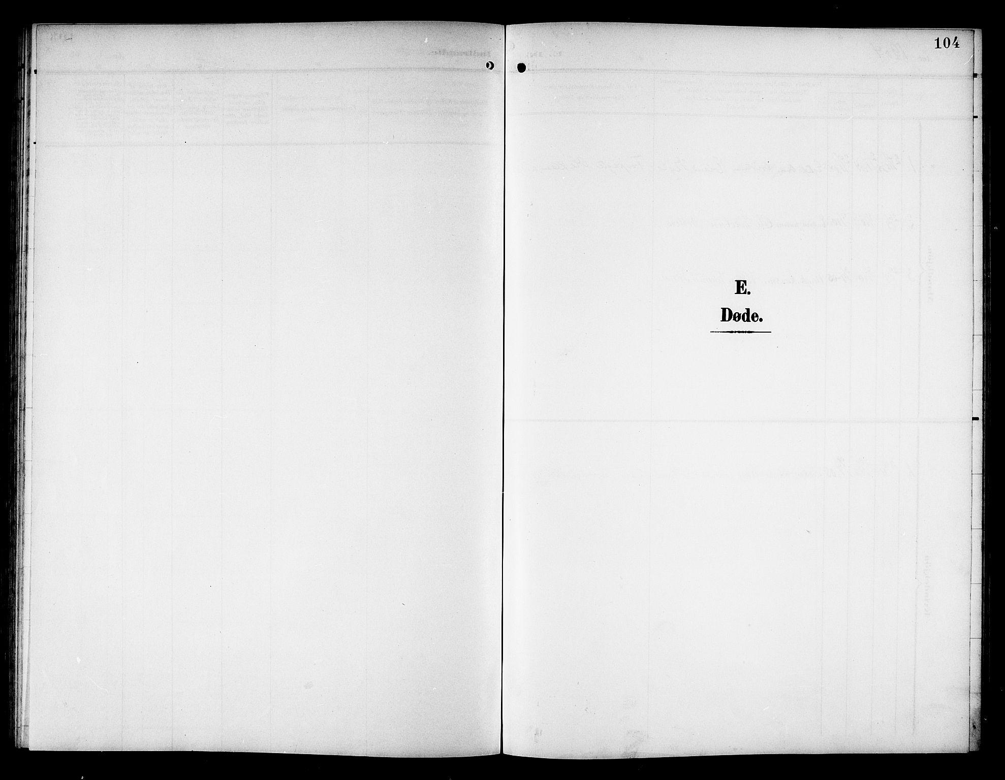 SAT, Ministerialprotokoller, klokkerbøker og fødselsregistre - Nord-Trøndelag, 757/L0506: Klokkerbok nr. 757C01, 1904-1922, s. 104