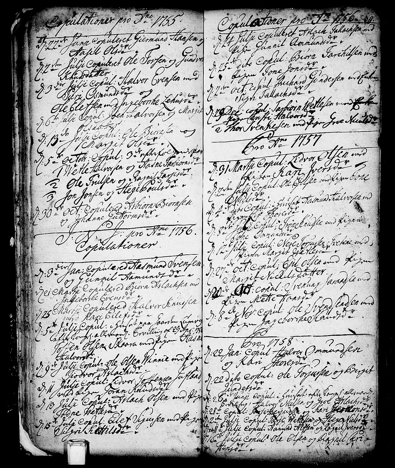 SAKO, Vinje kirkebøker, F/Fa/L0001: Ministerialbok nr. I 1, 1717-1766, s. 39