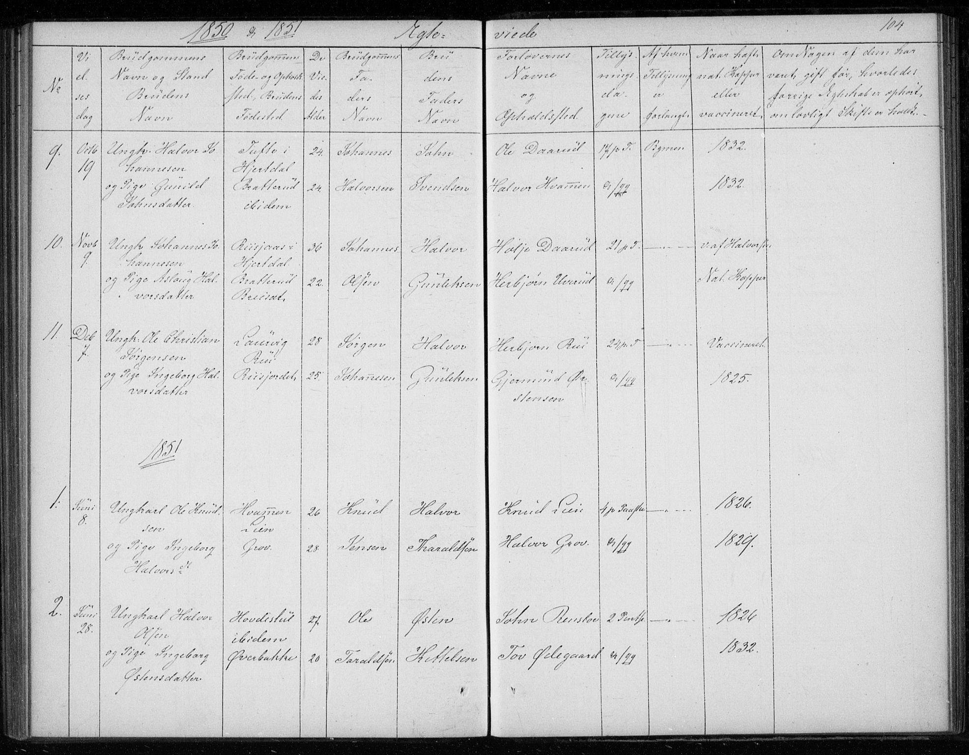 SAKO, Gransherad kirkebøker, F/Fb/L0003: Ministerialbok nr. II 3, 1844-1859, s. 104