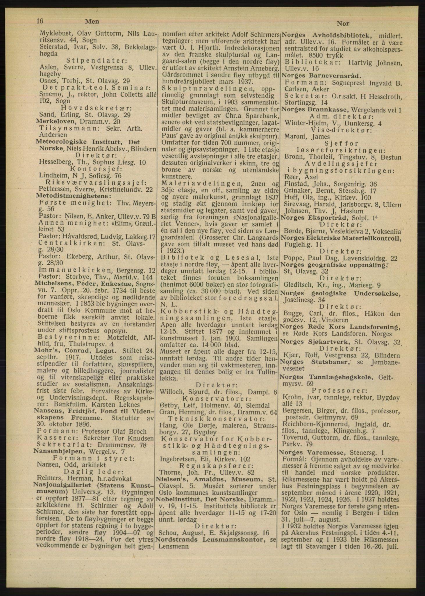 RA, Oslo adressebok (publikasjon)*, 1948, s. 16