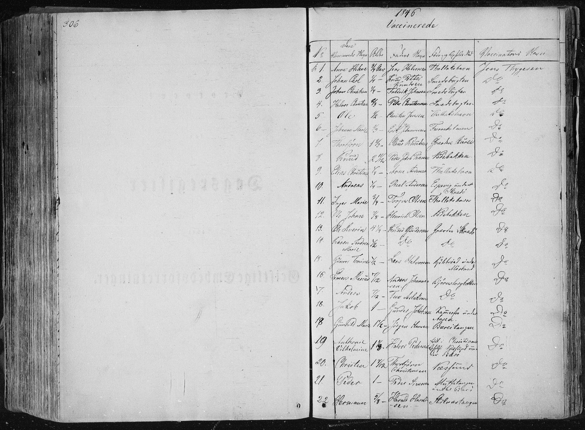 SAKO, Sannidal kirkebøker, F/Fa/L0007: Ministerialbok nr. 7, 1831-1854, s. 306