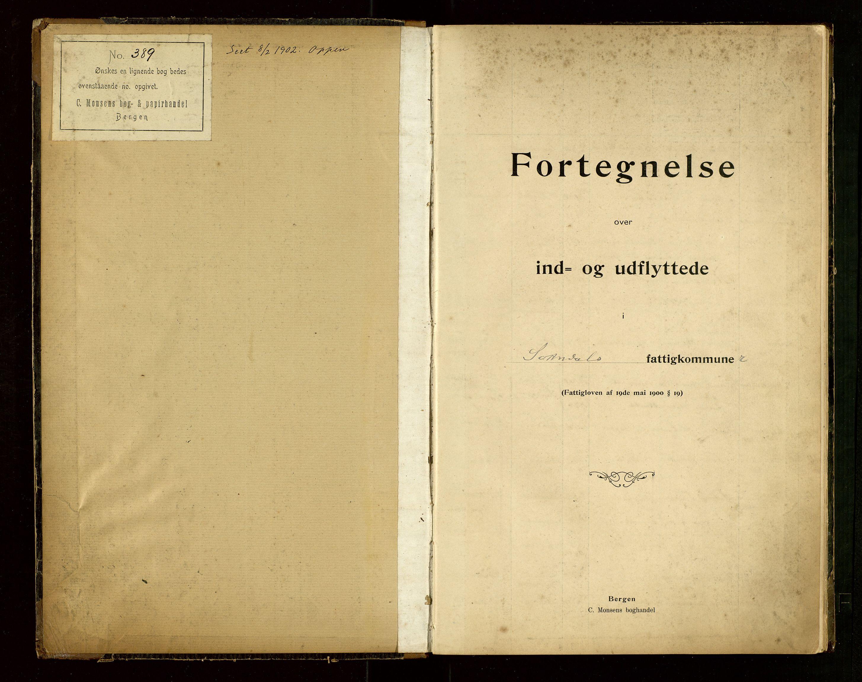 """SAST, Sokndal lensmannskontor, Gw/L0001: """"Fortegnelse over Ind- og Udflyttede"""", 1901-1925, s. 2"""