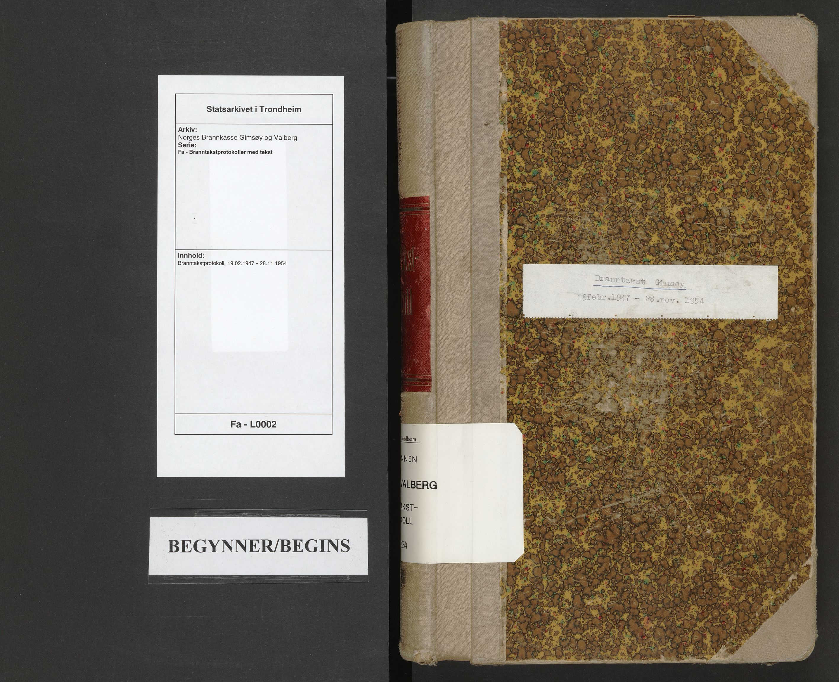 SAT, Norges Brannkasse Gimsøy og Valberg, Fa/L0002: Branntakstprotokoll, 1947-1954