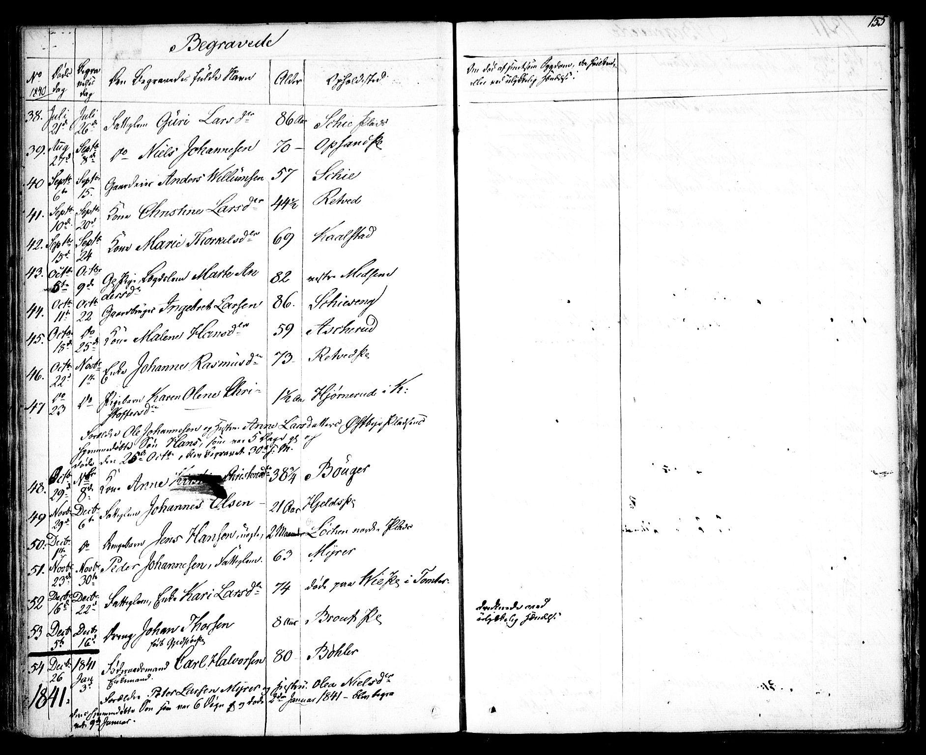SAO, Kråkstad prestekontor Kirkebøker, F/Fa/L0005: Ministerialbok nr. I 5, 1837-1847, s. 155