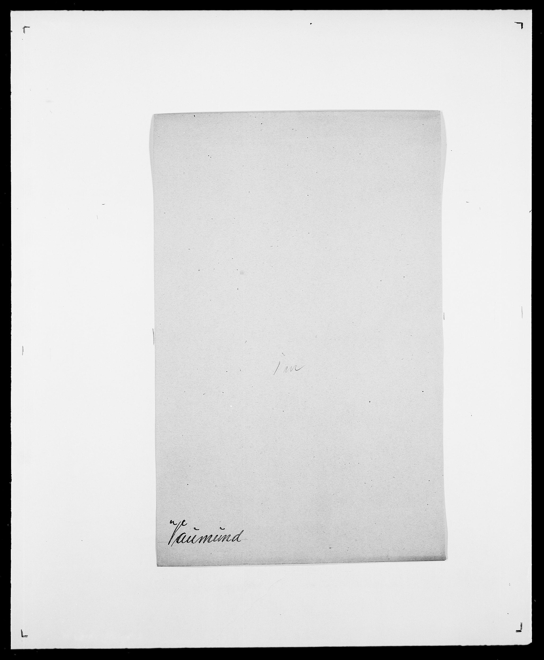 SAO, Delgobe, Charles Antoine - samling, D/Da/L0040: Usgaard - Velund, s. 393