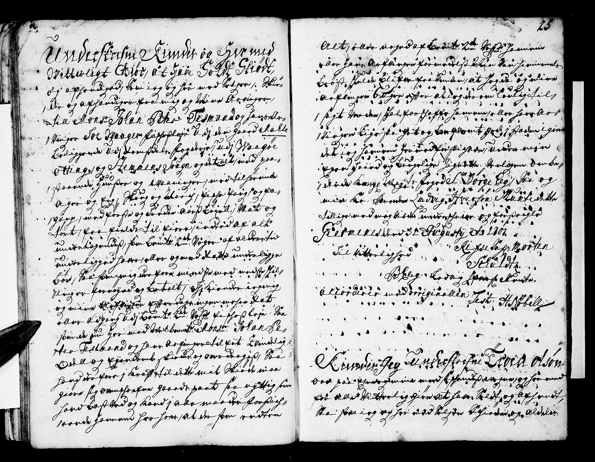 SAT, Romsdal sorenskriveri, 2/2C/L0001: Pantebok nr. 1, 1706-1724, s. 25