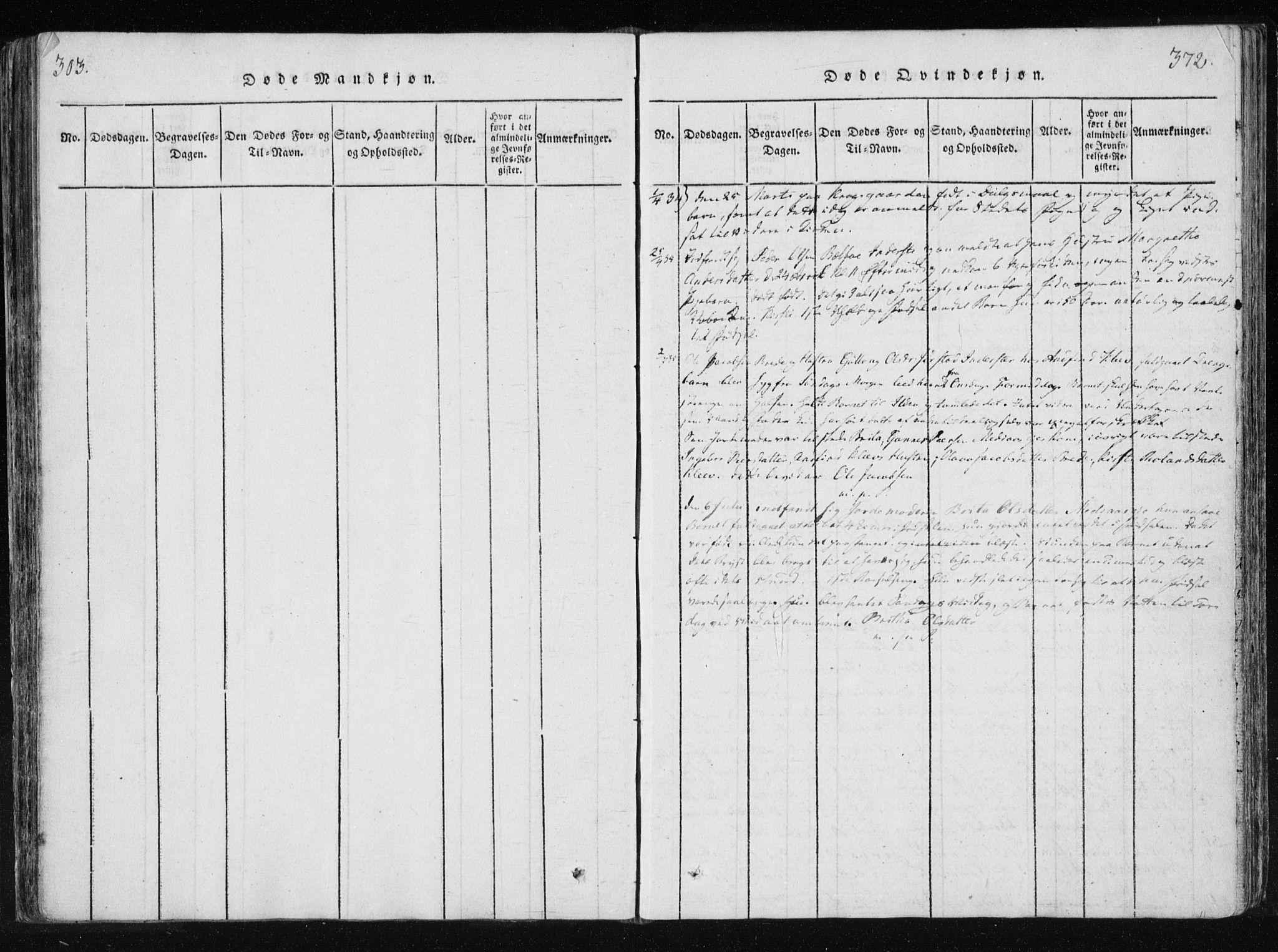 SAT, Ministerialprotokoller, klokkerbøker og fødselsregistre - Nord-Trøndelag, 749/L0469: Ministerialbok nr. 749A03, 1817-1857, s. 371-372
