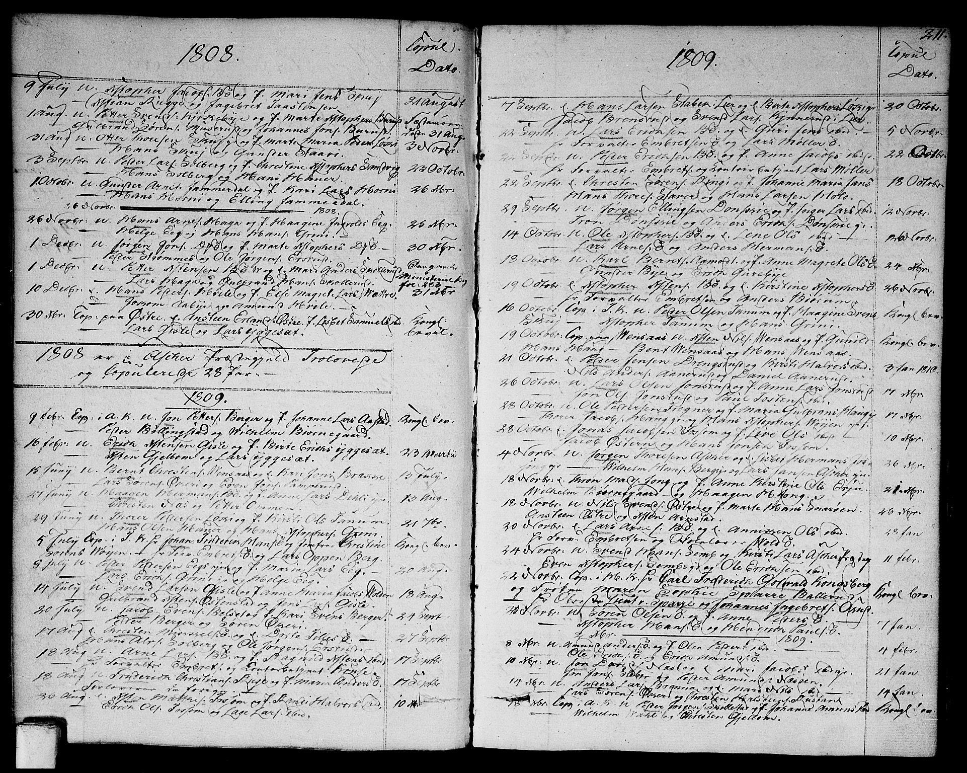 SAO, Asker prestekontor Kirkebøker, F/Fa/L0005: Ministerialbok nr. I 5, 1807-1813, s. 211