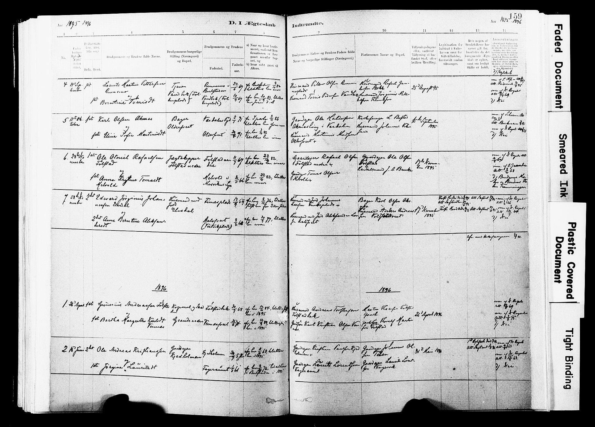 SAT, Ministerialprotokoller, klokkerbøker og fødselsregistre - Nord-Trøndelag, 744/L0420: Ministerialbok nr. 744A04, 1882-1904, s. 159