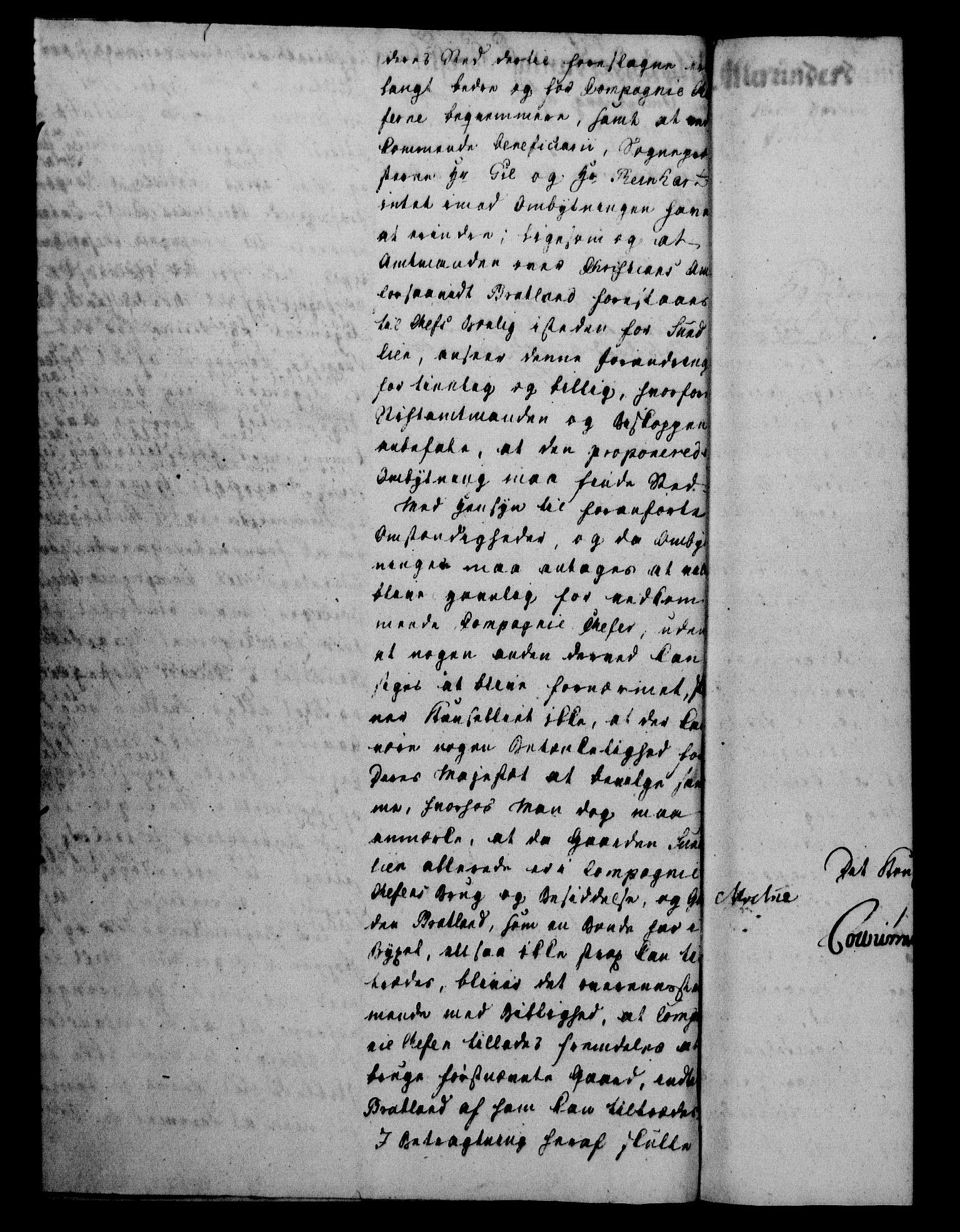 RA, Danske Kanselli 1800-1814, H/Hf/Hfa/Hfab/L0004: Forestillinger, 1803