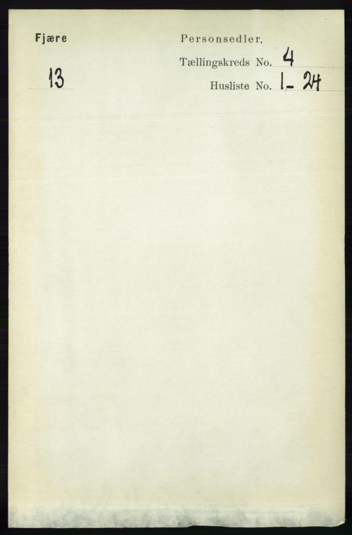 RA, Folketelling 1891 for 0923 Fjære herred, 1891, s. 1861