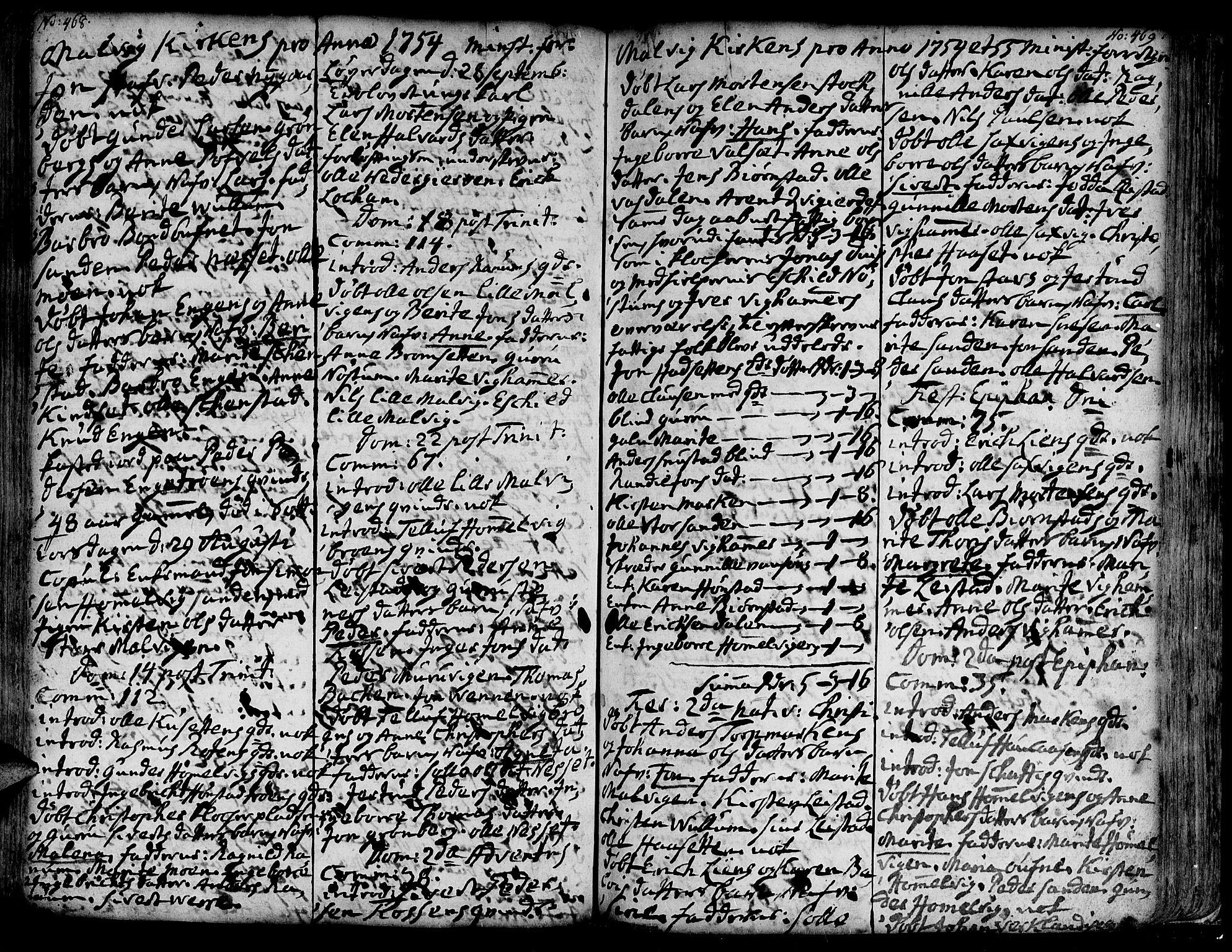 SAT, Ministerialprotokoller, klokkerbøker og fødselsregistre - Sør-Trøndelag, 606/L0277: Ministerialbok nr. 606A01 /3, 1727-1780, s. 468-469