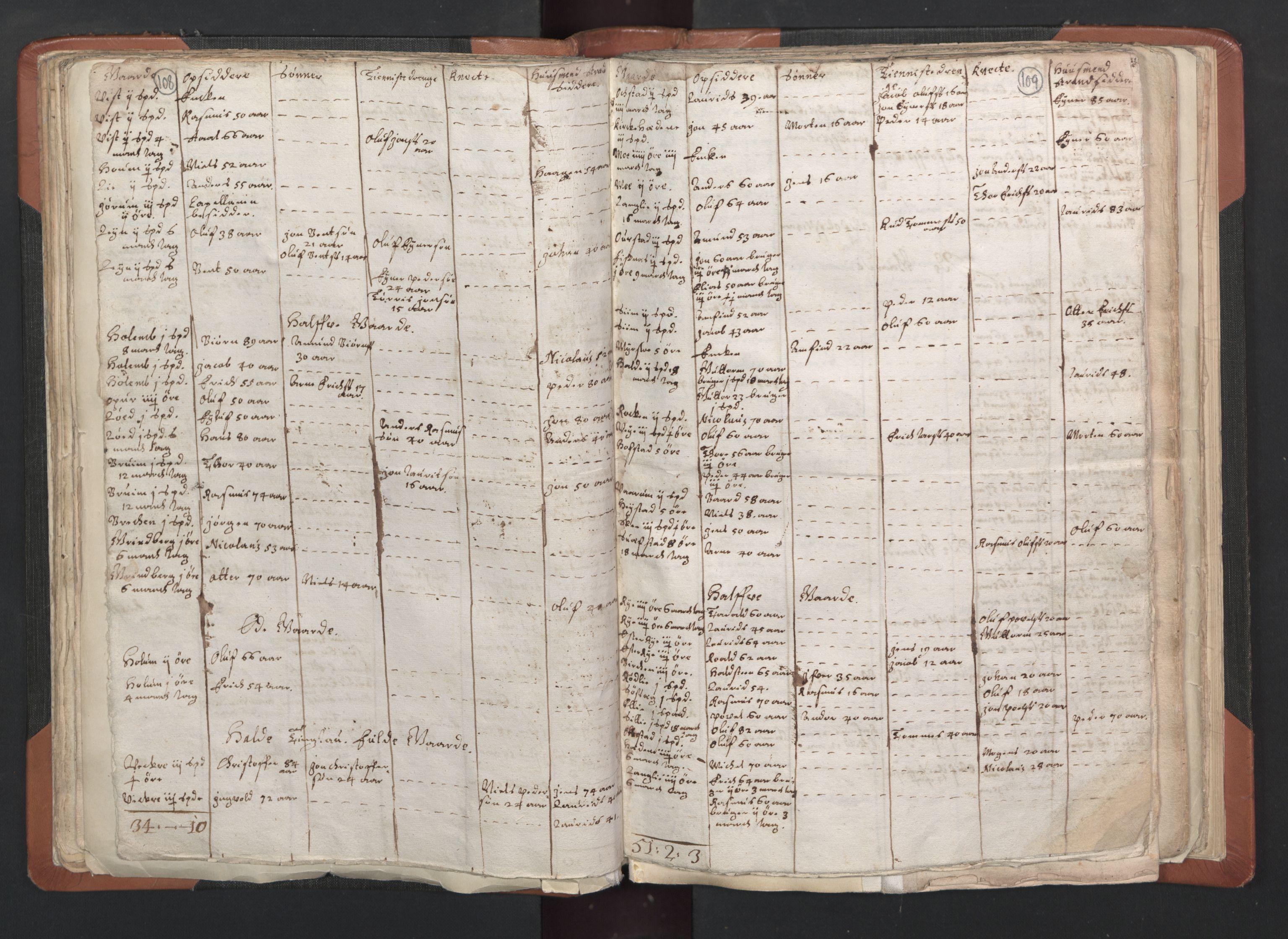 RA, Sogneprestenes manntall 1664-1666, nr. 33: Innherad prosti, 1664-1666, s. 108-109