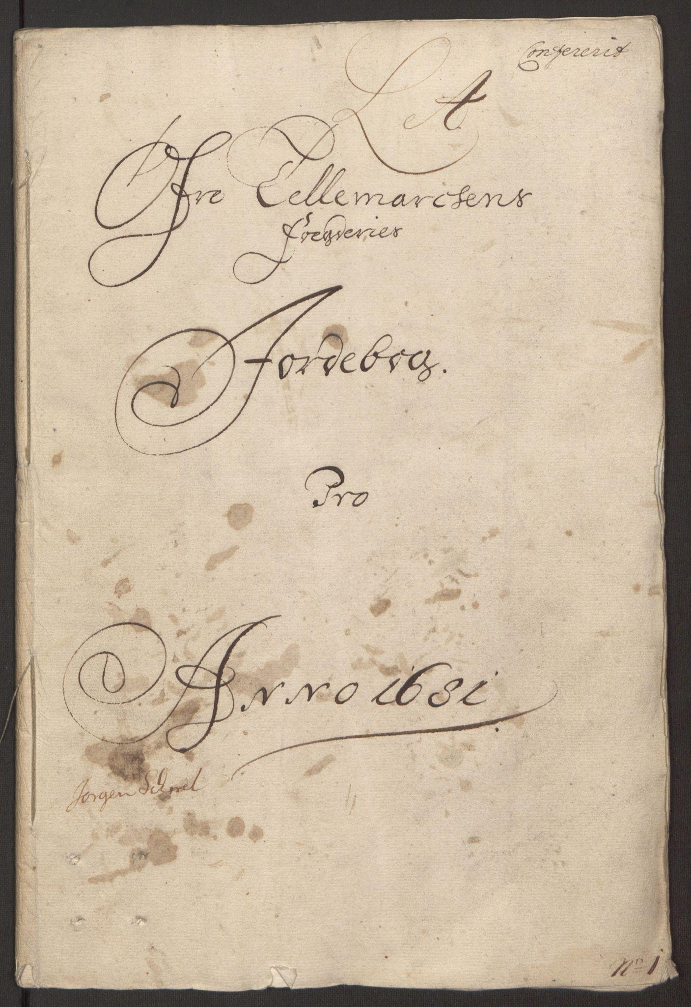 RA, Rentekammeret inntil 1814, Reviderte regnskaper, Fogderegnskap, R35/L2077: Fogderegnskap Øvre og Nedre Telemark, 1680-1684, s. 3
