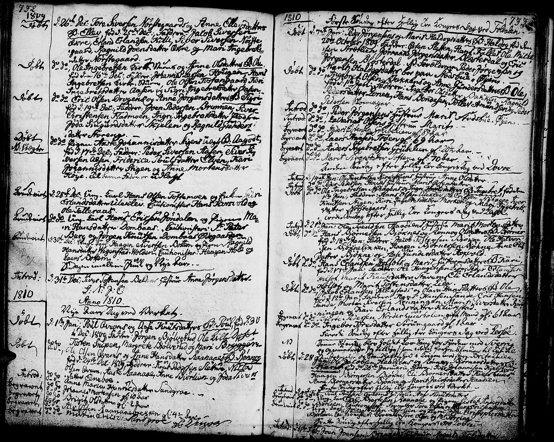 SAH, Lesja prestekontor, Ministerialbok nr. 3, 1777-1819, s. 732-733