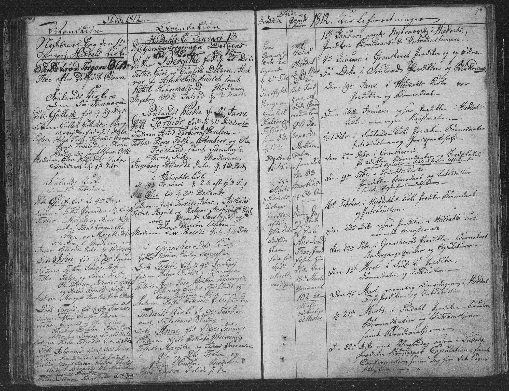 SAKO, Hjartdal kirkebøker, F/Fa/L0006: Ministerialbok nr. I 6, 1801-1814, s. 98