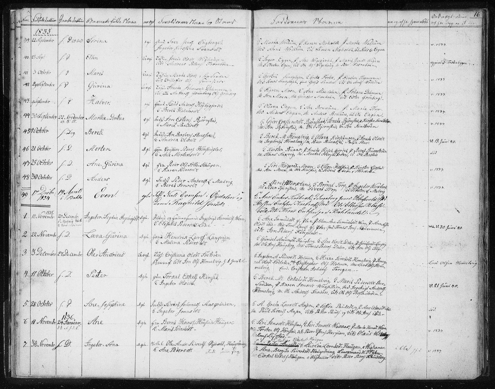 SAT, Ministerialprotokoller, klokkerbøker og fødselsregistre - Sør-Trøndelag, 616/L0405: Ministerialbok nr. 616A02, 1831-1842, s. 16