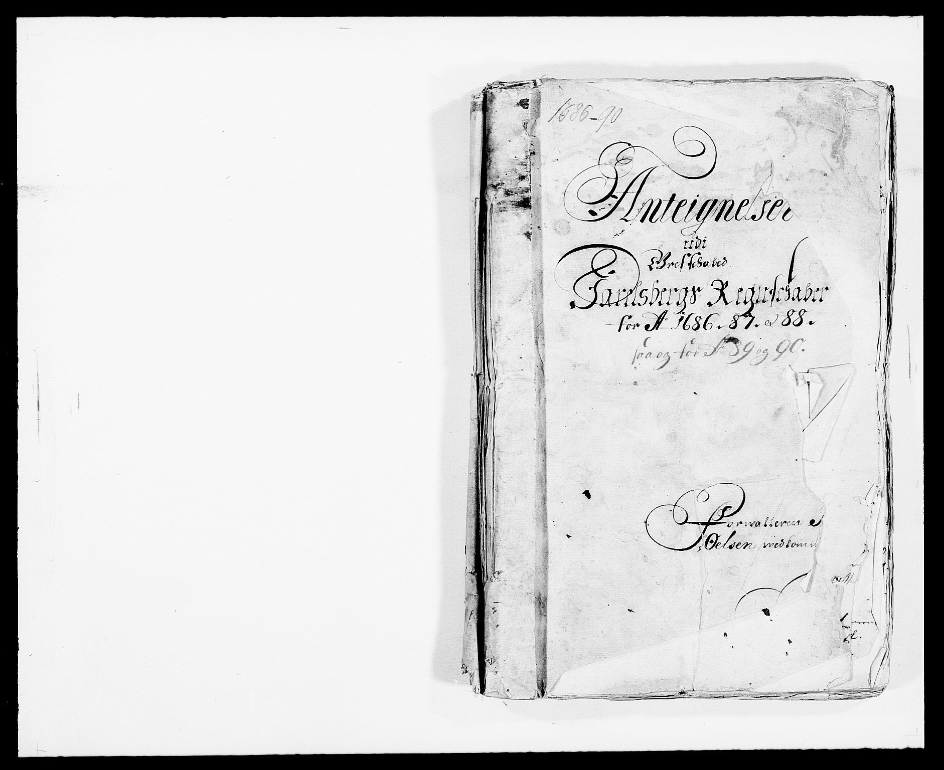 RA, Rentekammeret inntil 1814, Reviderte regnskaper, Fogderegnskap, R32/L1862: Fogderegnskap Jarlsberg grevskap, 1686-1690, s. 1
