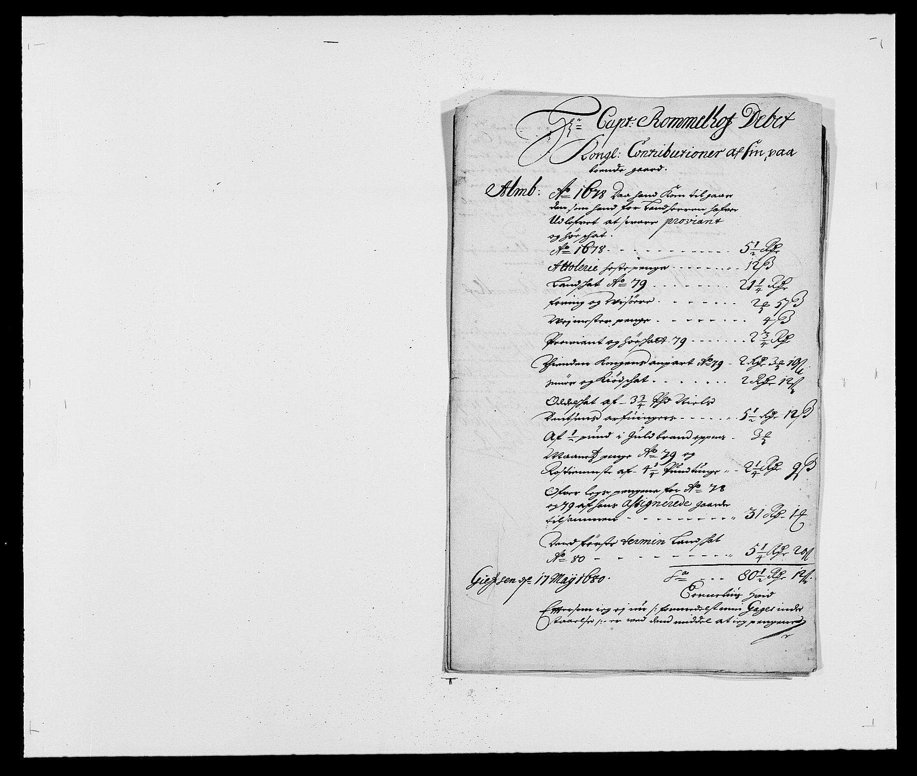 RA, Rentekammeret inntil 1814, Reviderte regnskaper, Fogderegnskap, R18/L1277: Fogderegnskap Hadeland, Toten og Valdres, 1680, s. 102