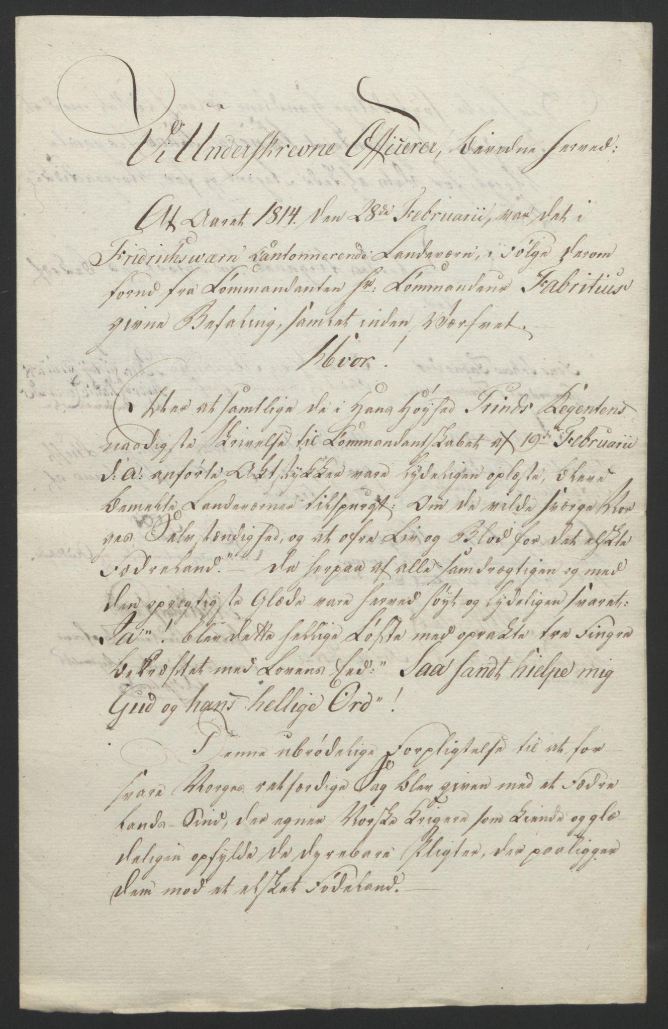 RA, Statsrådssekretariatet, D/Db/L0007: Fullmakter for Eidsvollsrepresentantene i 1814. , 1814, s. 91