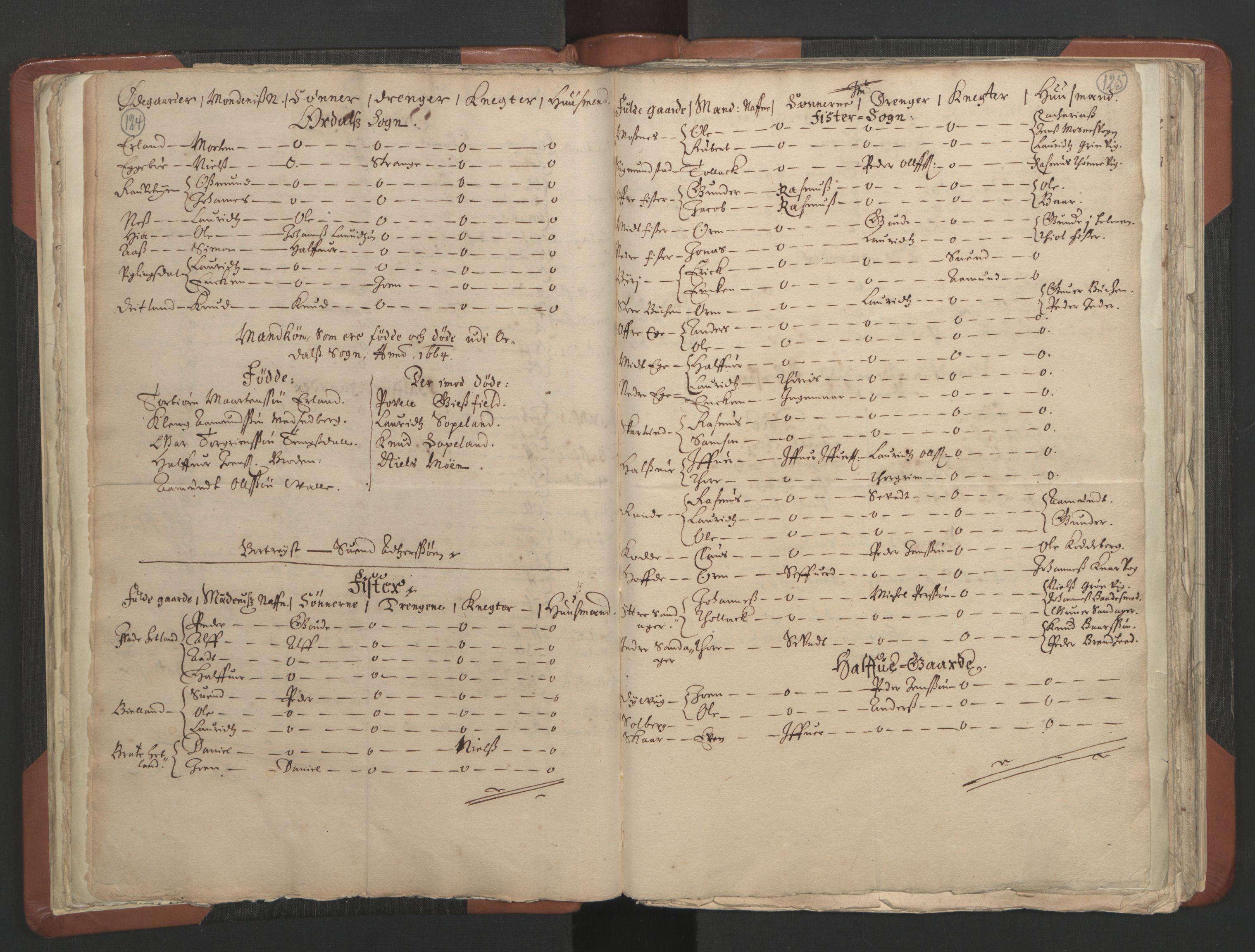 RA, Sogneprestenes manntall 1664-1666, nr. 19: Ryfylke prosti, 1664-1666, s. 124-125