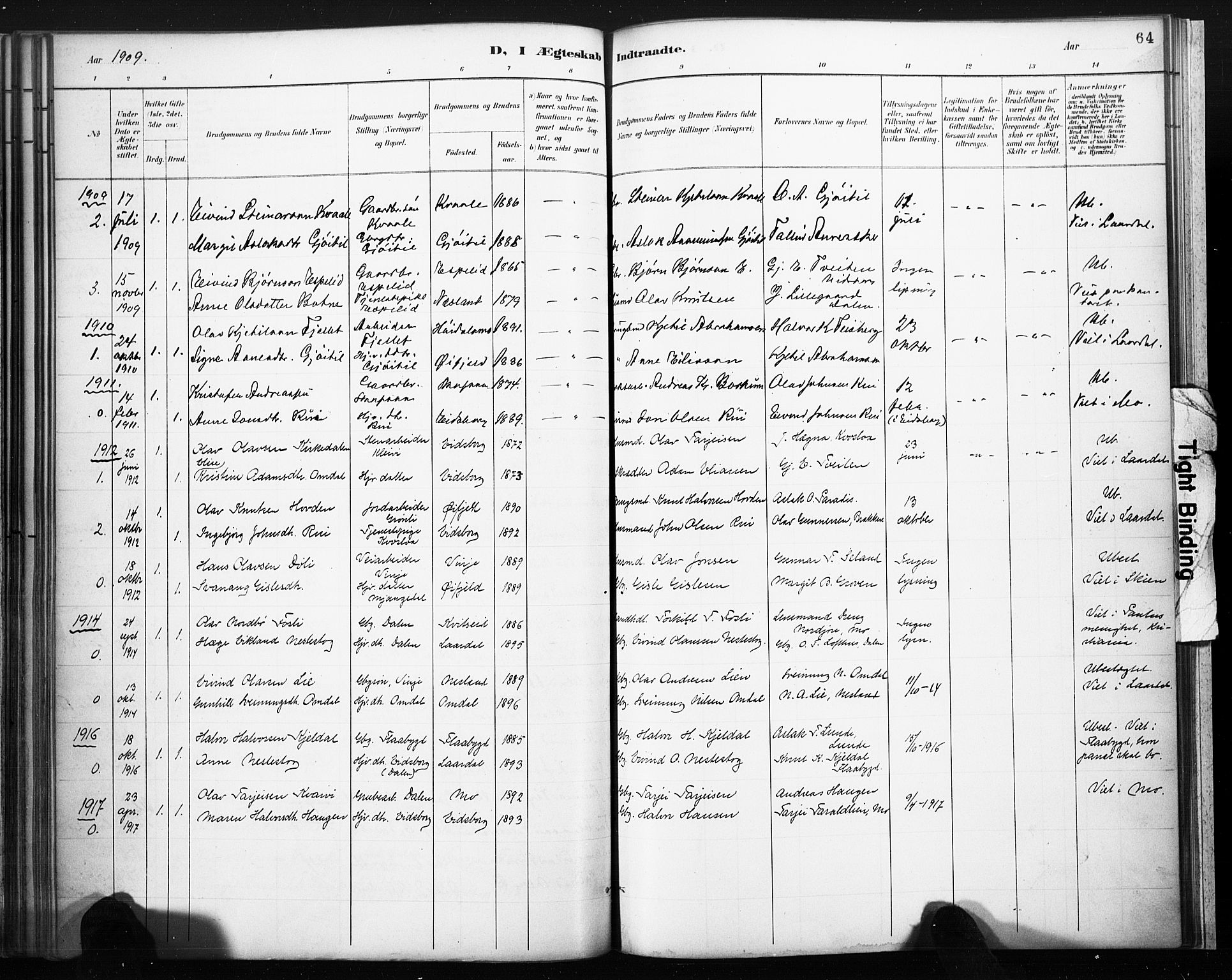 SAKO, Lårdal kirkebøker, F/Fb/L0002: Ministerialbok nr. II 2, 1887-1918, s. 64