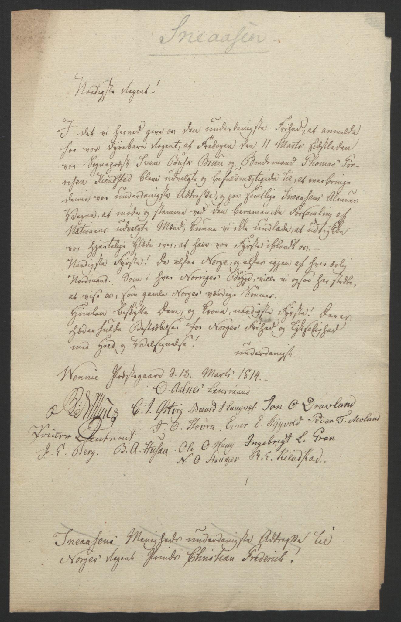 RA, Statsrådssekretariatet, D/Db/L0008: Fullmakter for Eidsvollsrepresentantene i 1814. , 1814, s. 477