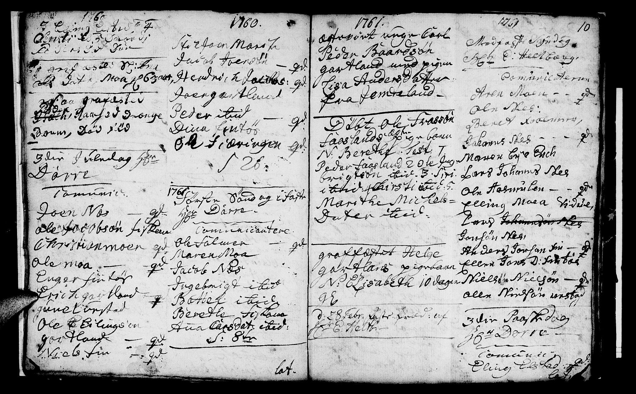 SAT, Ministerialprotokoller, klokkerbøker og fødselsregistre - Nord-Trøndelag, 759/L0526: Ministerialbok nr. 759A02, 1758-1765, s. 10