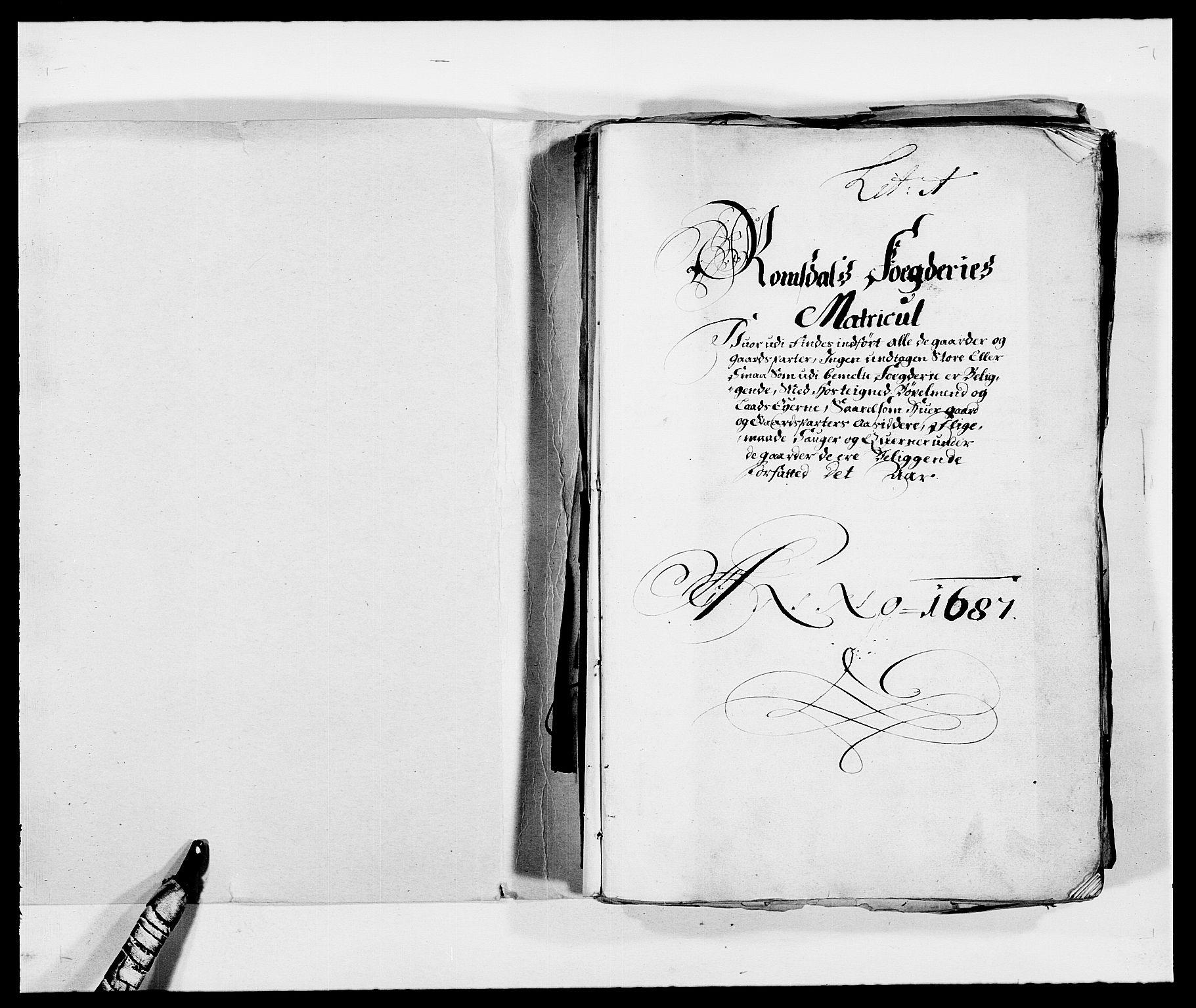 RA, Rentekammeret inntil 1814, Reviderte regnskaper, Fogderegnskap, R55/L3648: Fogderegnskap Romsdal, 1687-1689, s. 2