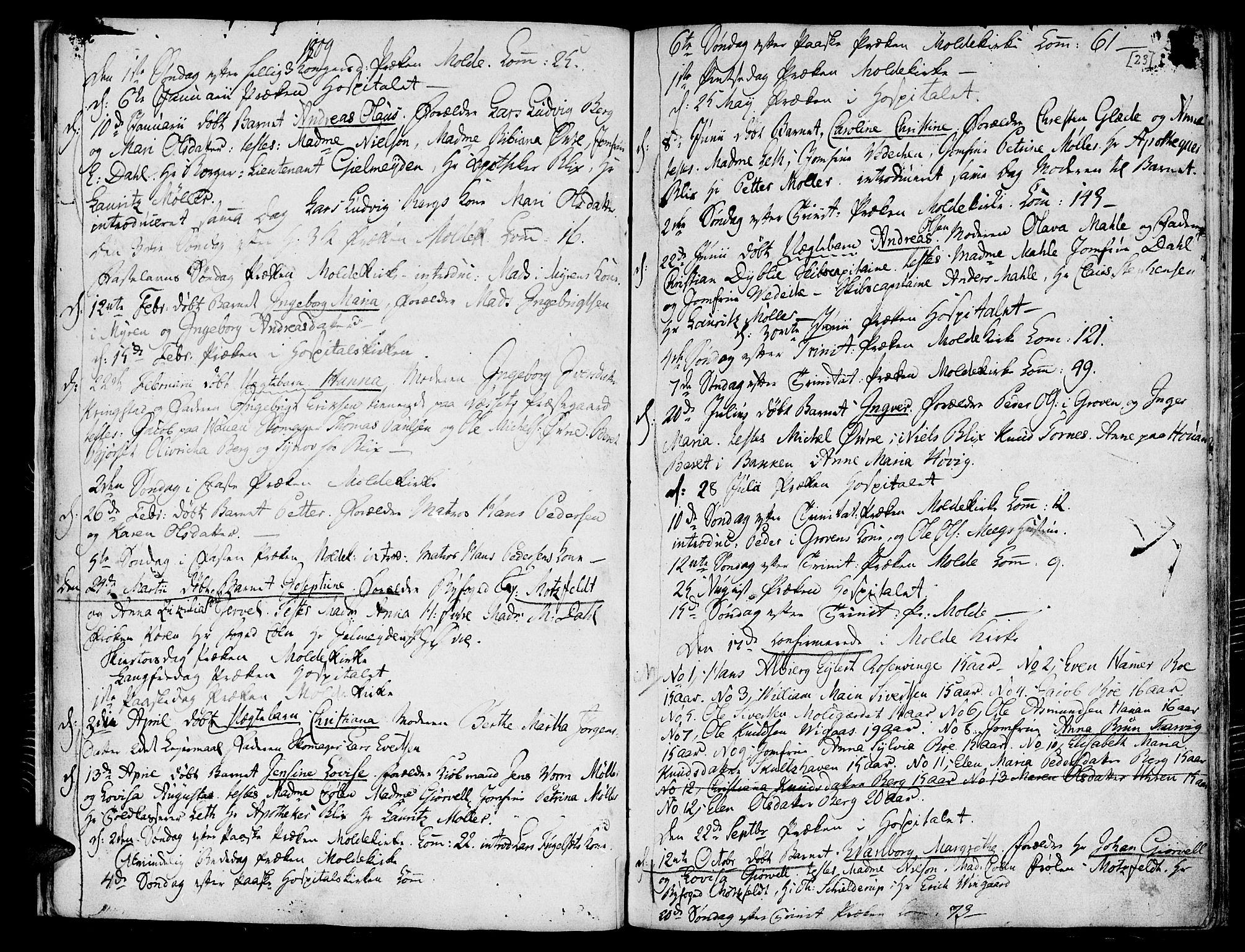 SAT, Ministerialprotokoller, klokkerbøker og fødselsregistre - Møre og Romsdal, 558/L0687: Ministerialbok nr. 558A01, 1798-1818, s. 23