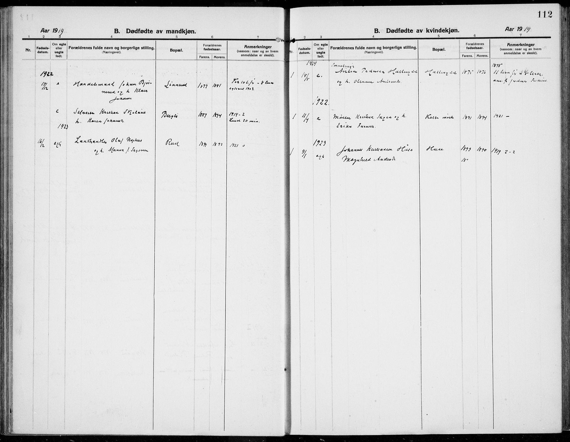 SAH, Kolbu prestekontor, Ministerialbok nr. 2, 1912-1926, s. 112