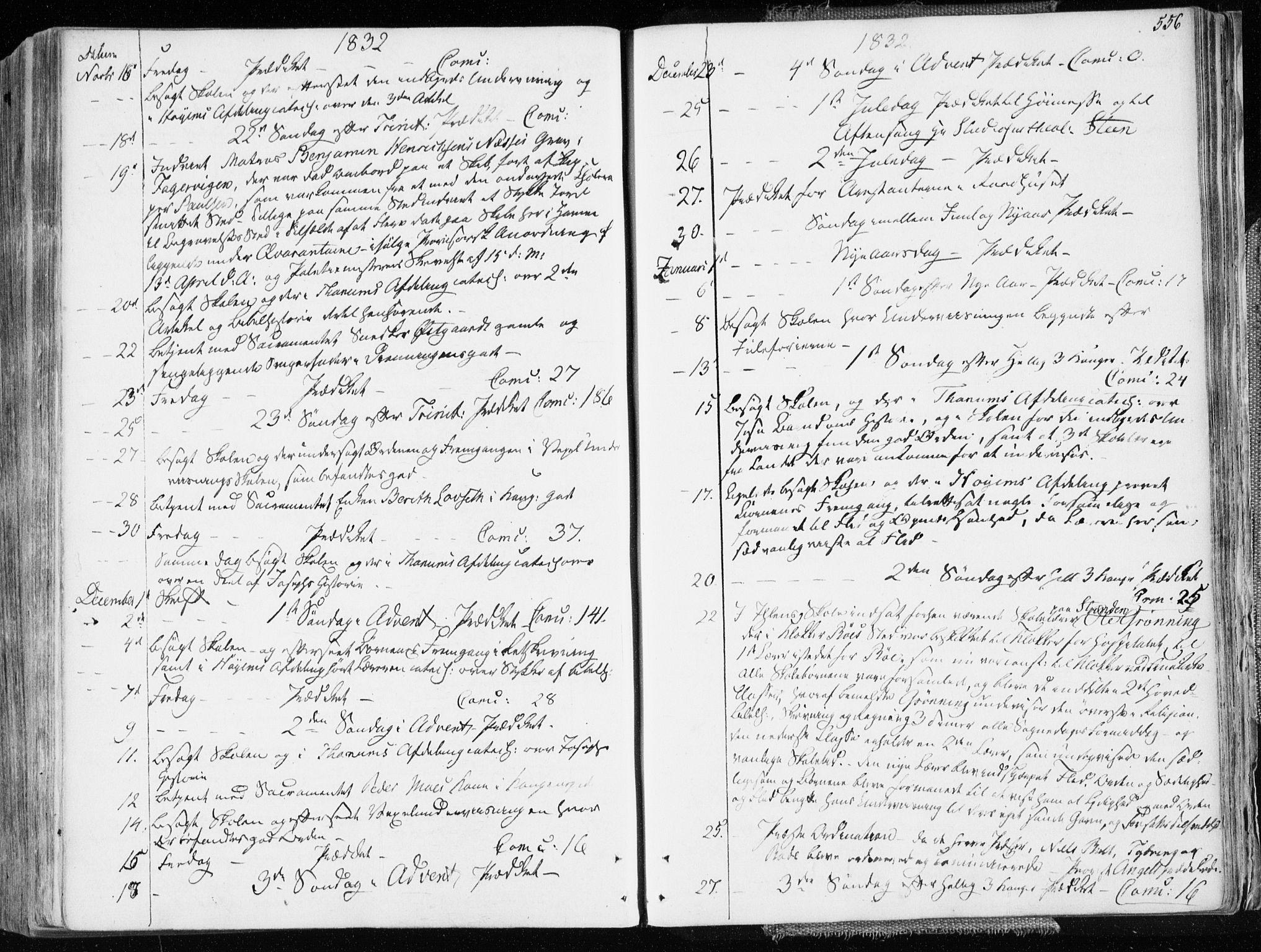 SAT, Ministerialprotokoller, klokkerbøker og fødselsregistre - Sør-Trøndelag, 601/L0047: Ministerialbok nr. 601A15, 1831-1839, s. 556