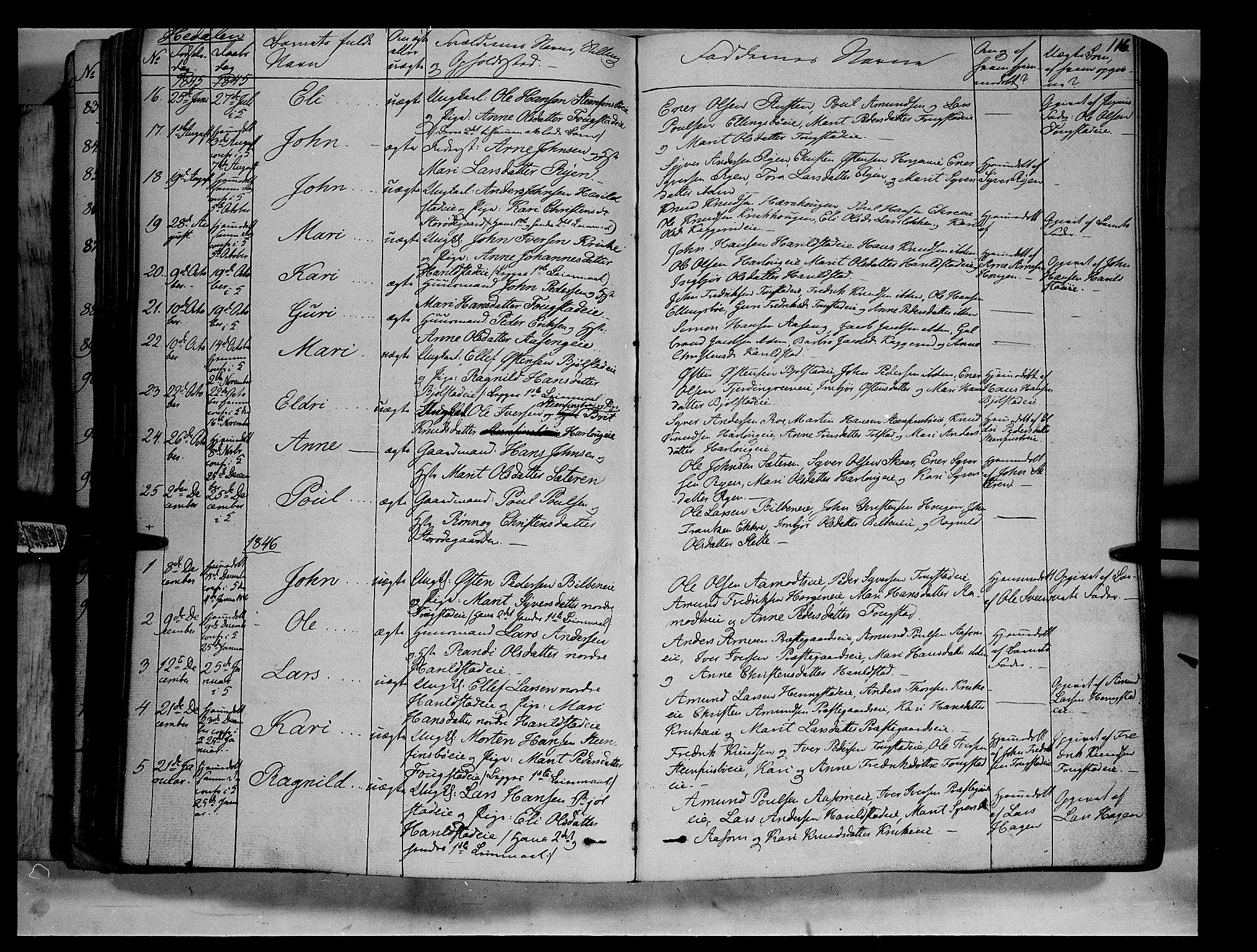 SAH, Vågå prestekontor, Ministerialbok nr. 5 /2, 1842-1856, s. 116