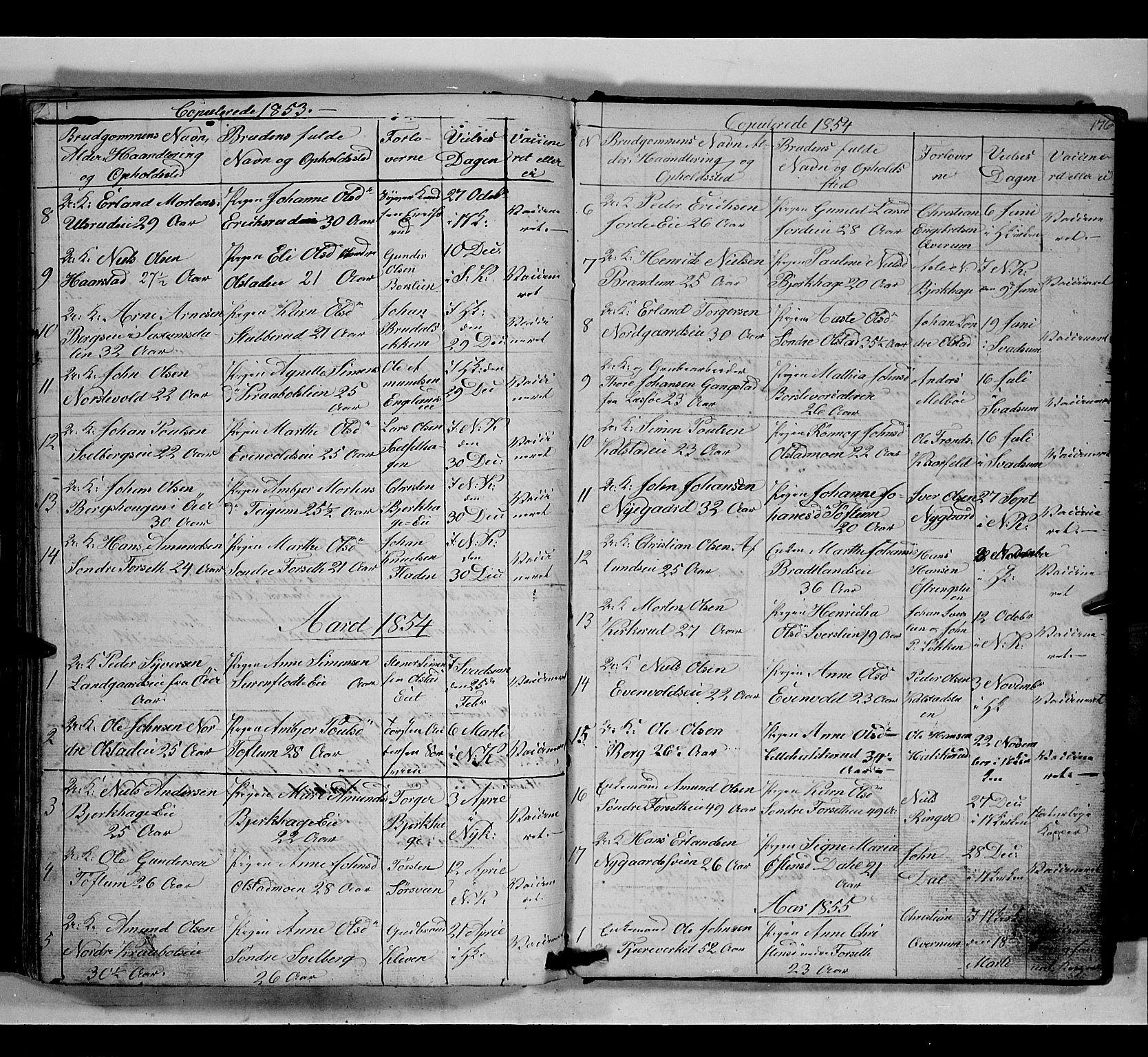 SAH, Gausdal prestekontor, Klokkerbok nr. 5, 1846-1867, s. 176