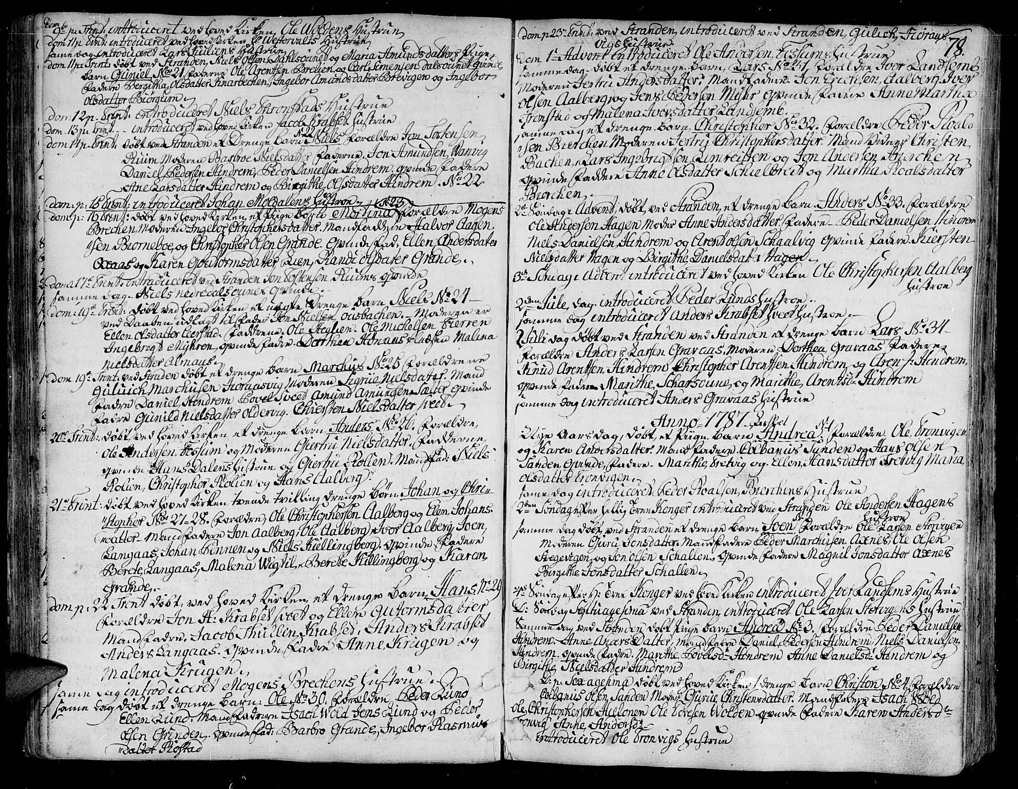 SAT, Ministerialprotokoller, klokkerbøker og fødselsregistre - Nord-Trøndelag, 701/L0004: Ministerialbok nr. 701A04, 1783-1816, s. 78