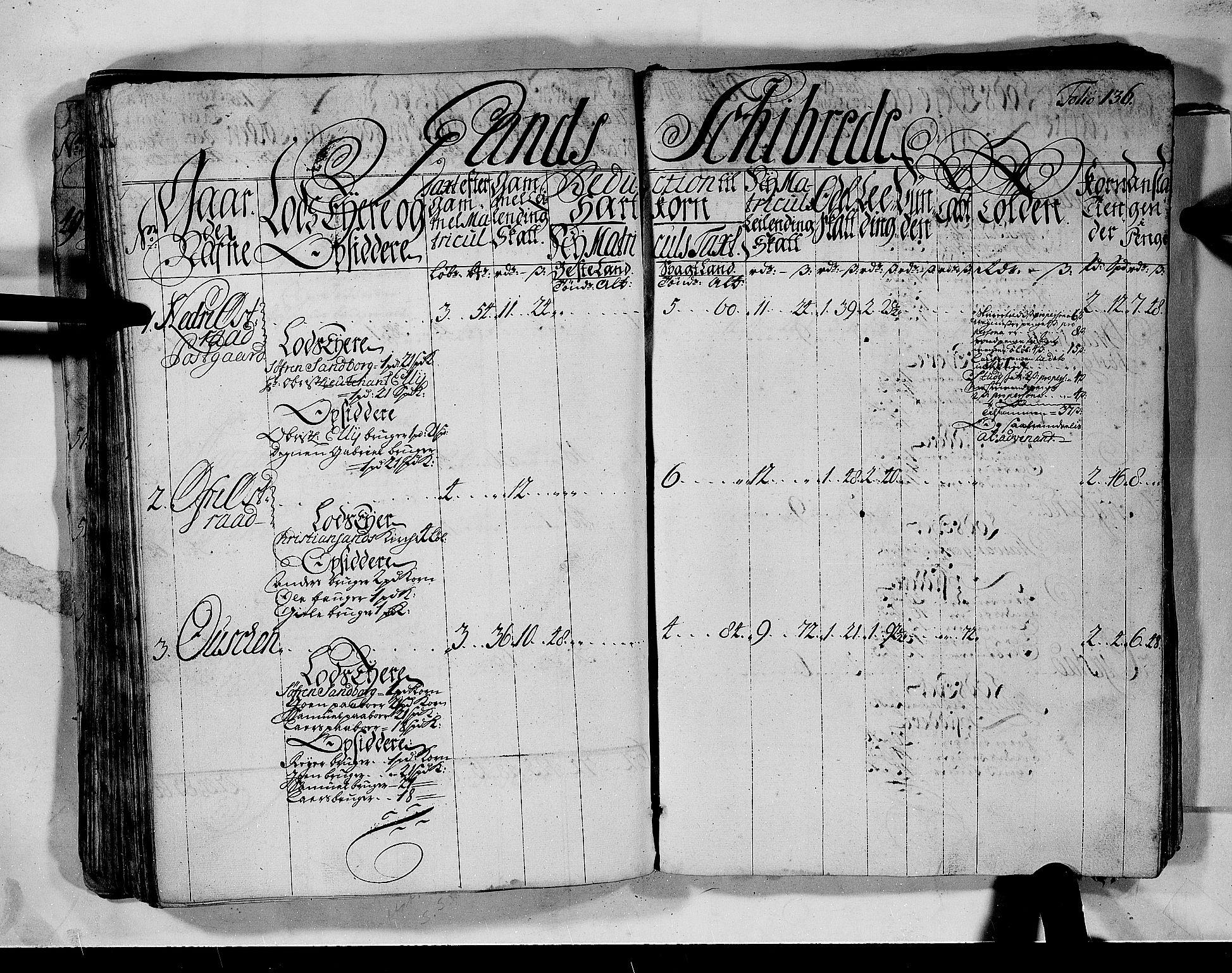 RA, Rentekammeret inntil 1814, Realistisk ordnet avdeling, N/Nb/Nbf/L0132: Jæren og Dalane matrikkelprotokoll, 1723, s. 135b-136a