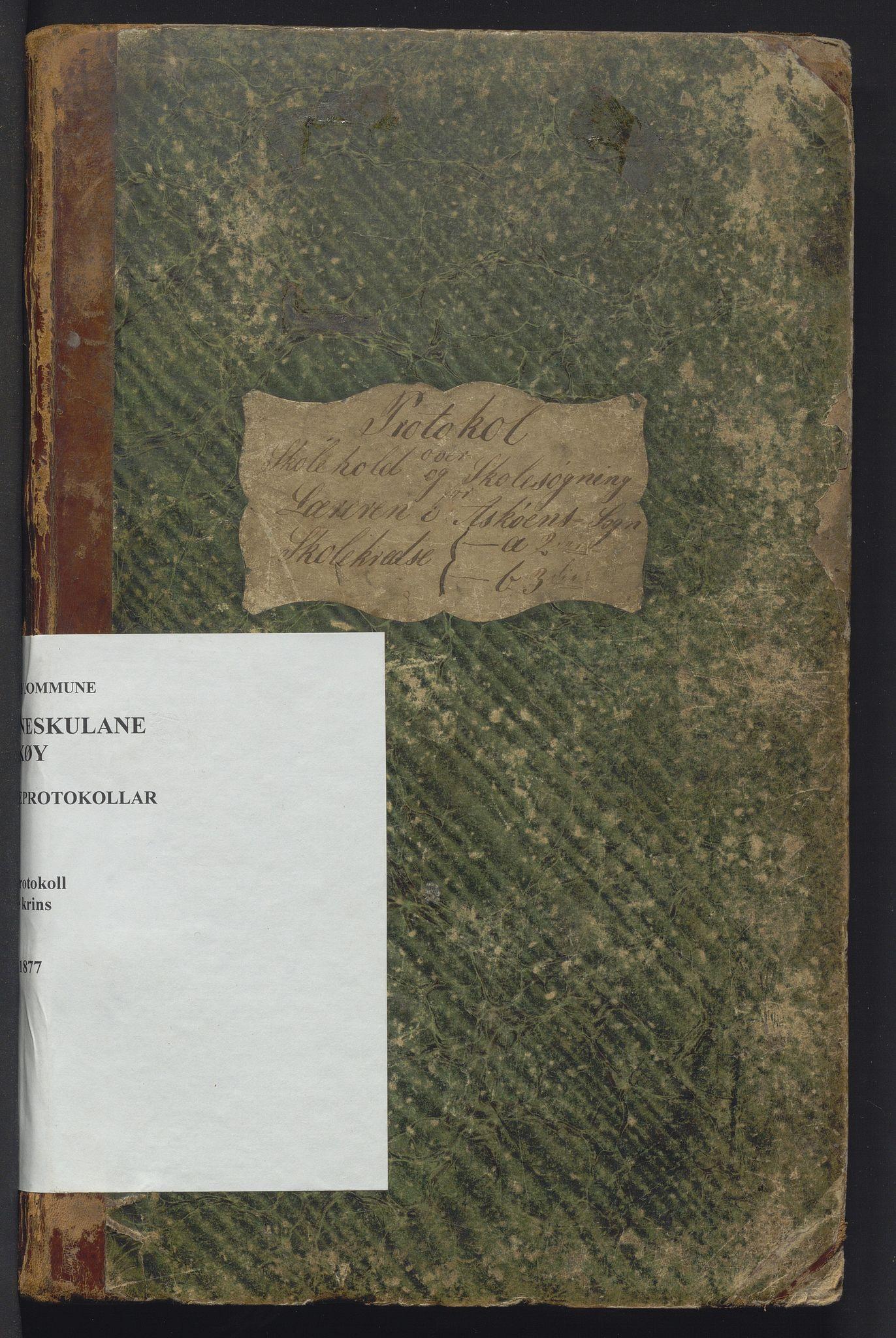 IKAH, Askøy kommune. Barneskulane, F/Fb/L0001: Skuleprotokoll for Kleppe og Follese krinsar, 1863-1877