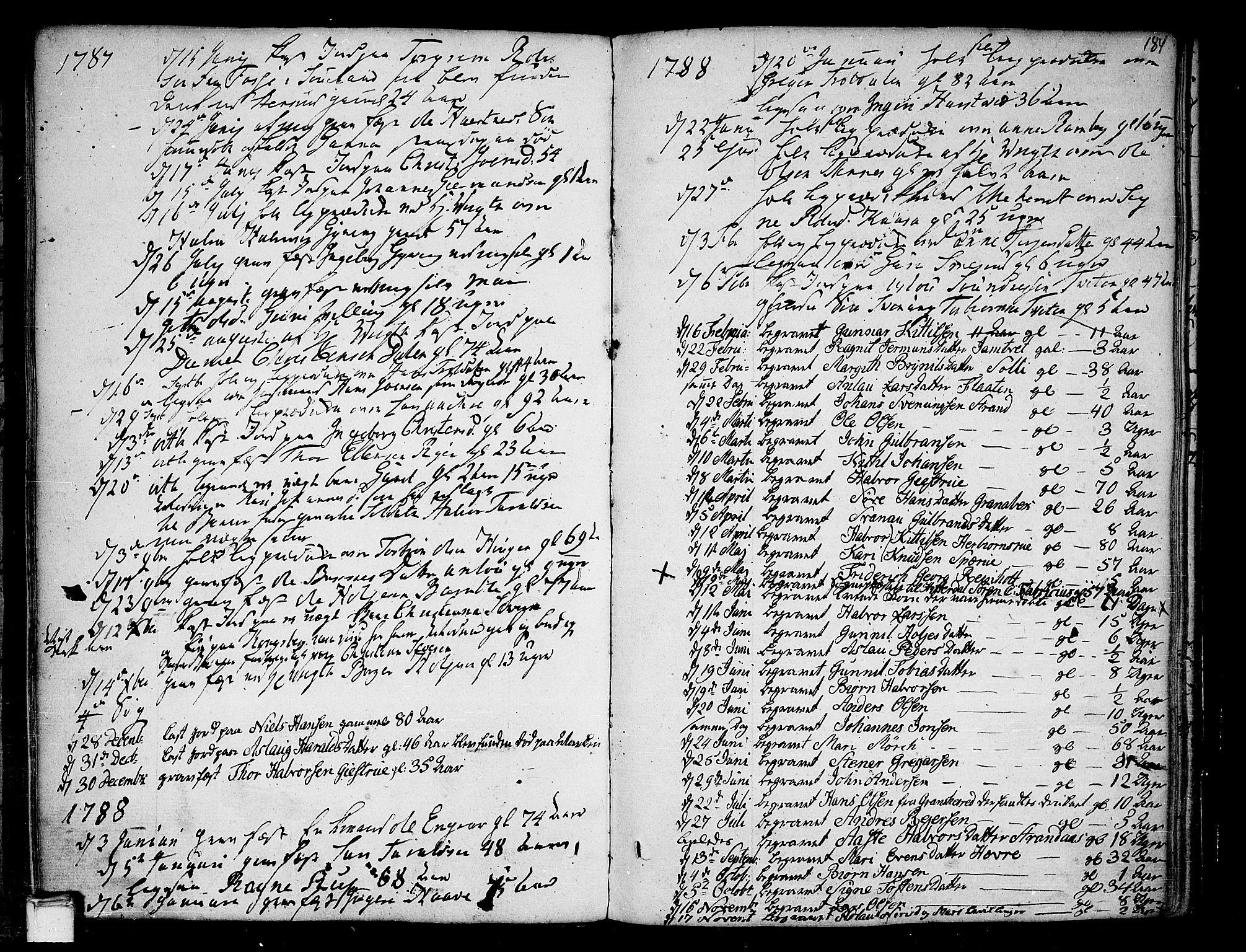 SAKO, Heddal kirkebøker, F/Fa/L0004: Ministerialbok nr. I 4, 1784-1814, s. 184